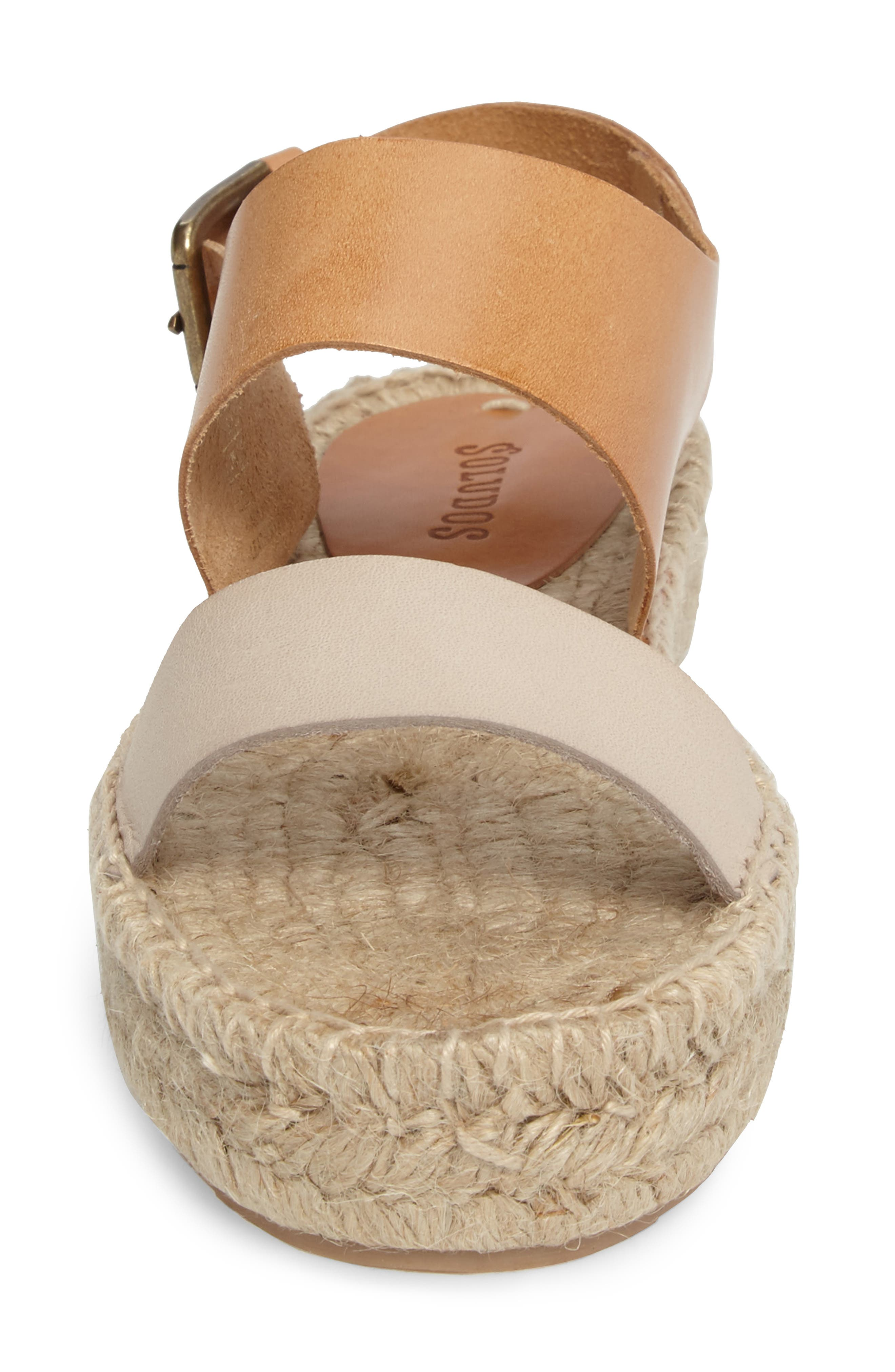Platform Espadrille Sandal,                             Alternate thumbnail 4, color,                             250