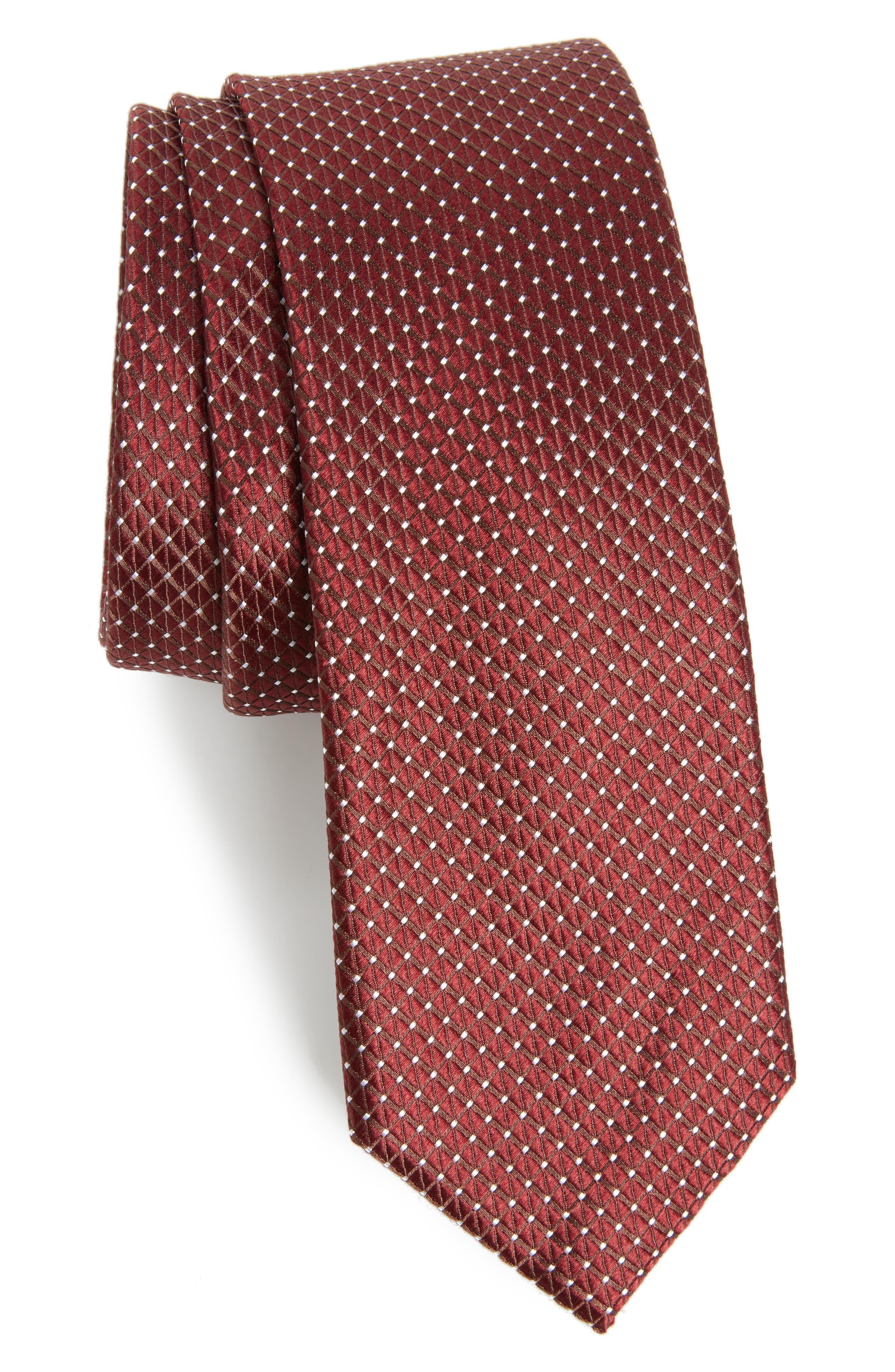 Nordstrom Men's Shop Hammond Neat Silk Tie,                             Main thumbnail 5, color,