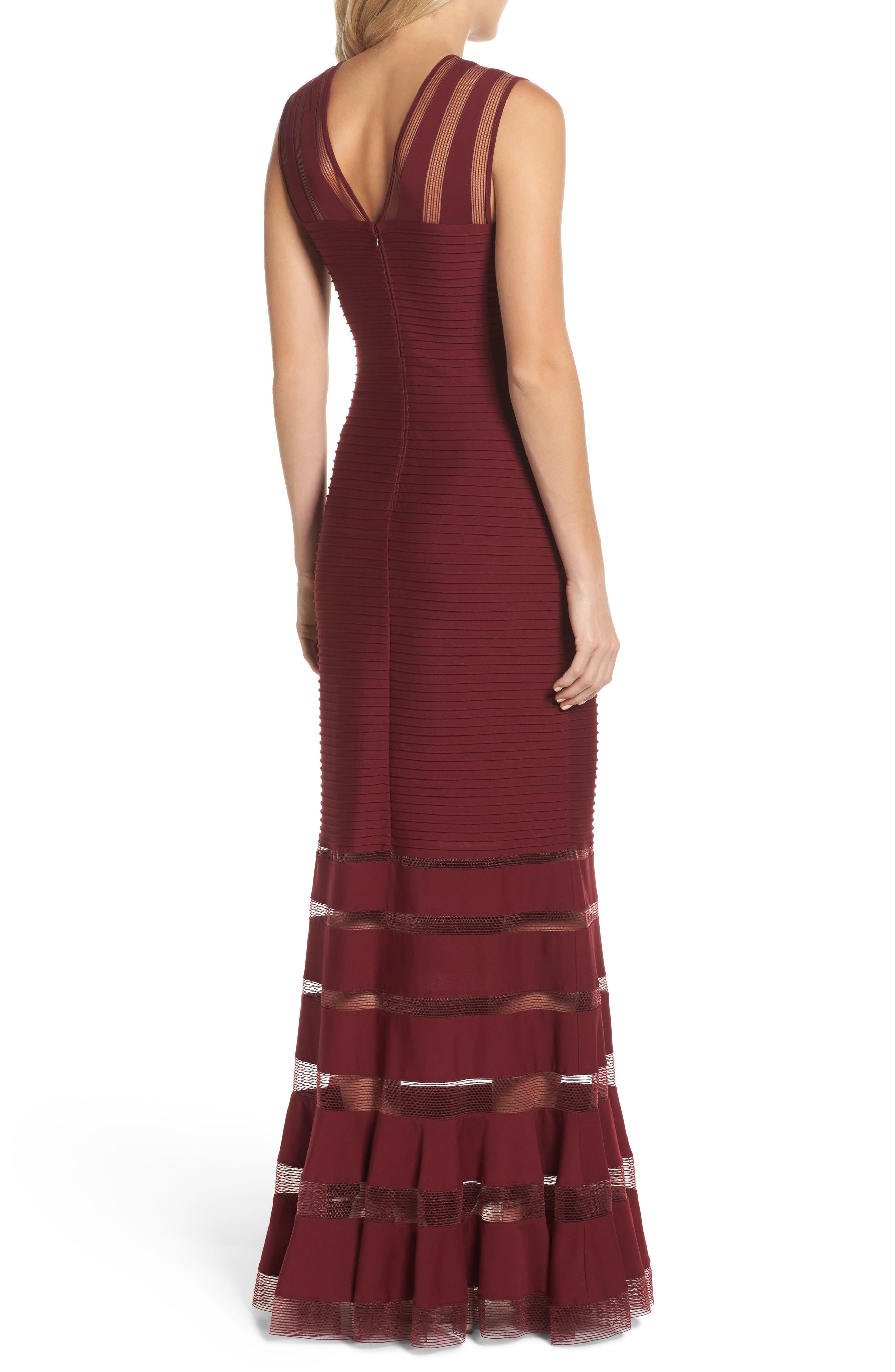 Mesh Inset Pintuck Dress,                             Alternate thumbnail 2, color,                             600