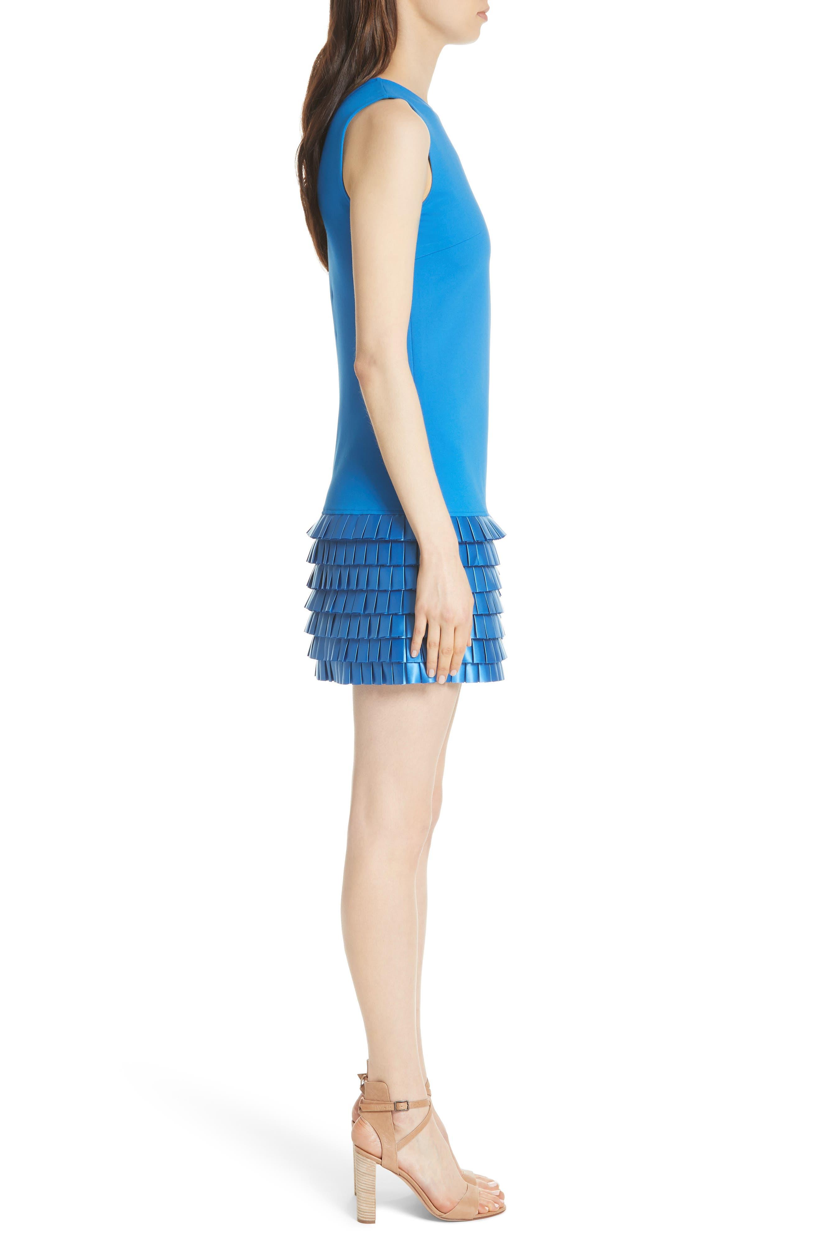 Marggia Satin Loop Detail Shift Dress,                             Alternate thumbnail 3, color,                             430