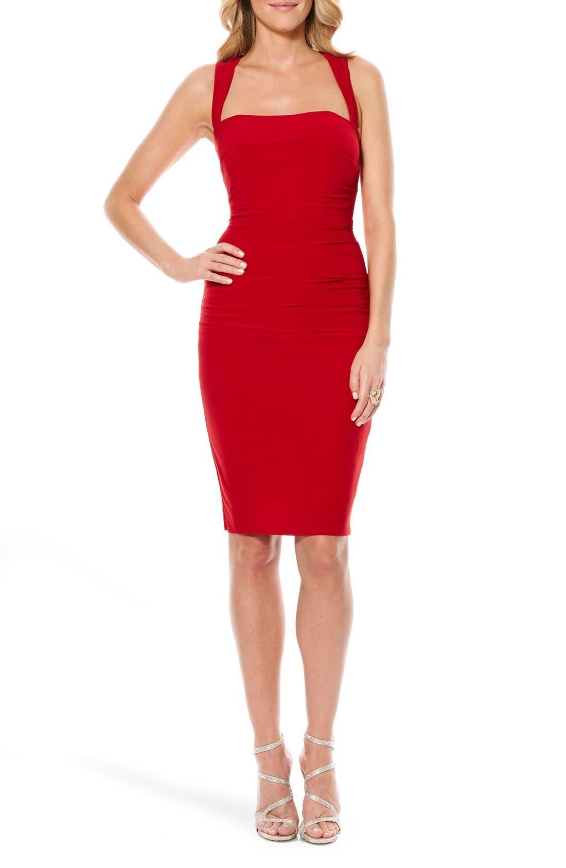 Twist Back Jersey Body-Con Dress,                             Main thumbnail 6, color,