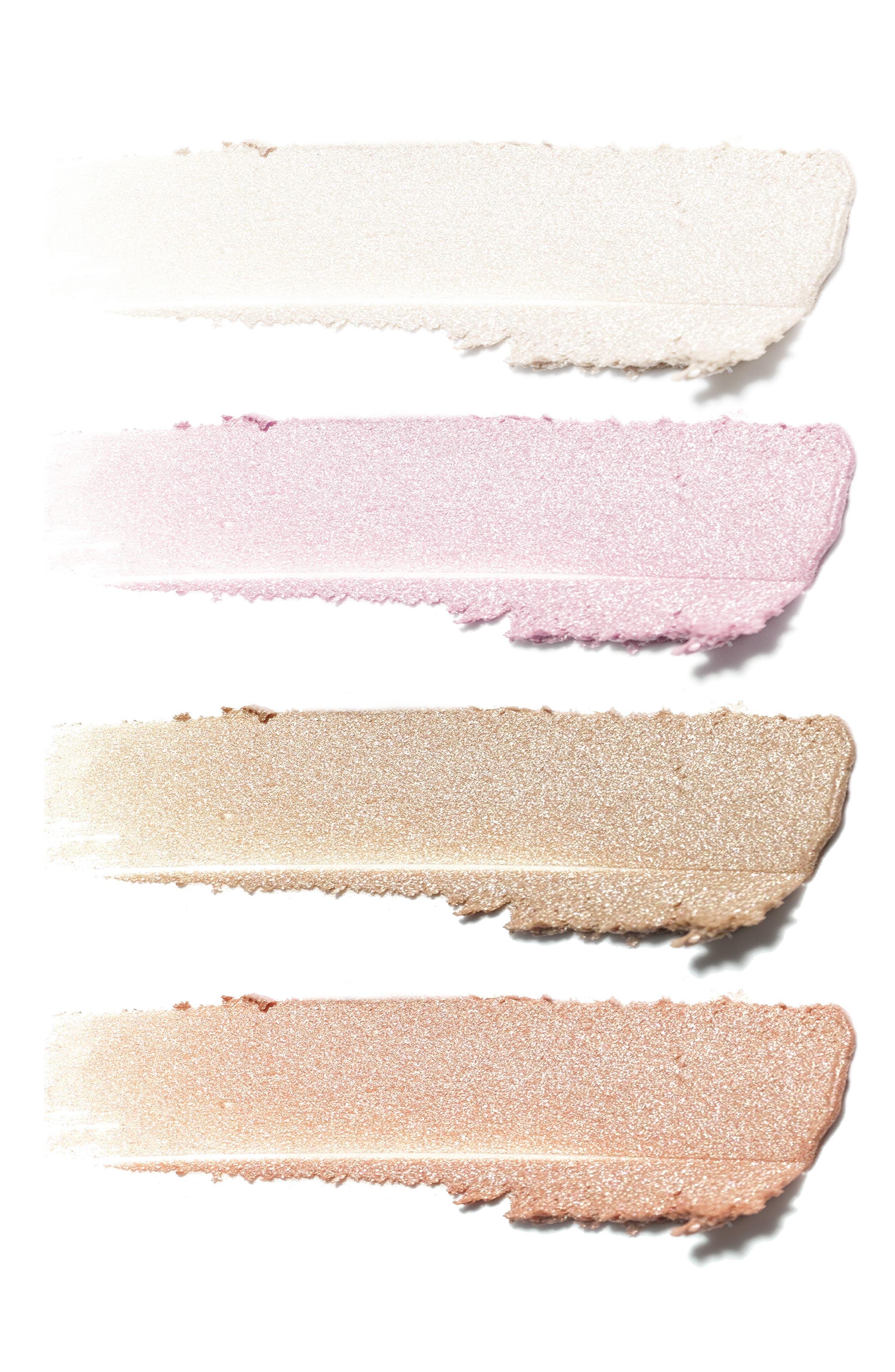 JOUER,                             Lucky & Luminous Crème Highlighter Palette,                             Alternate thumbnail 3, color,                             NO COLOR