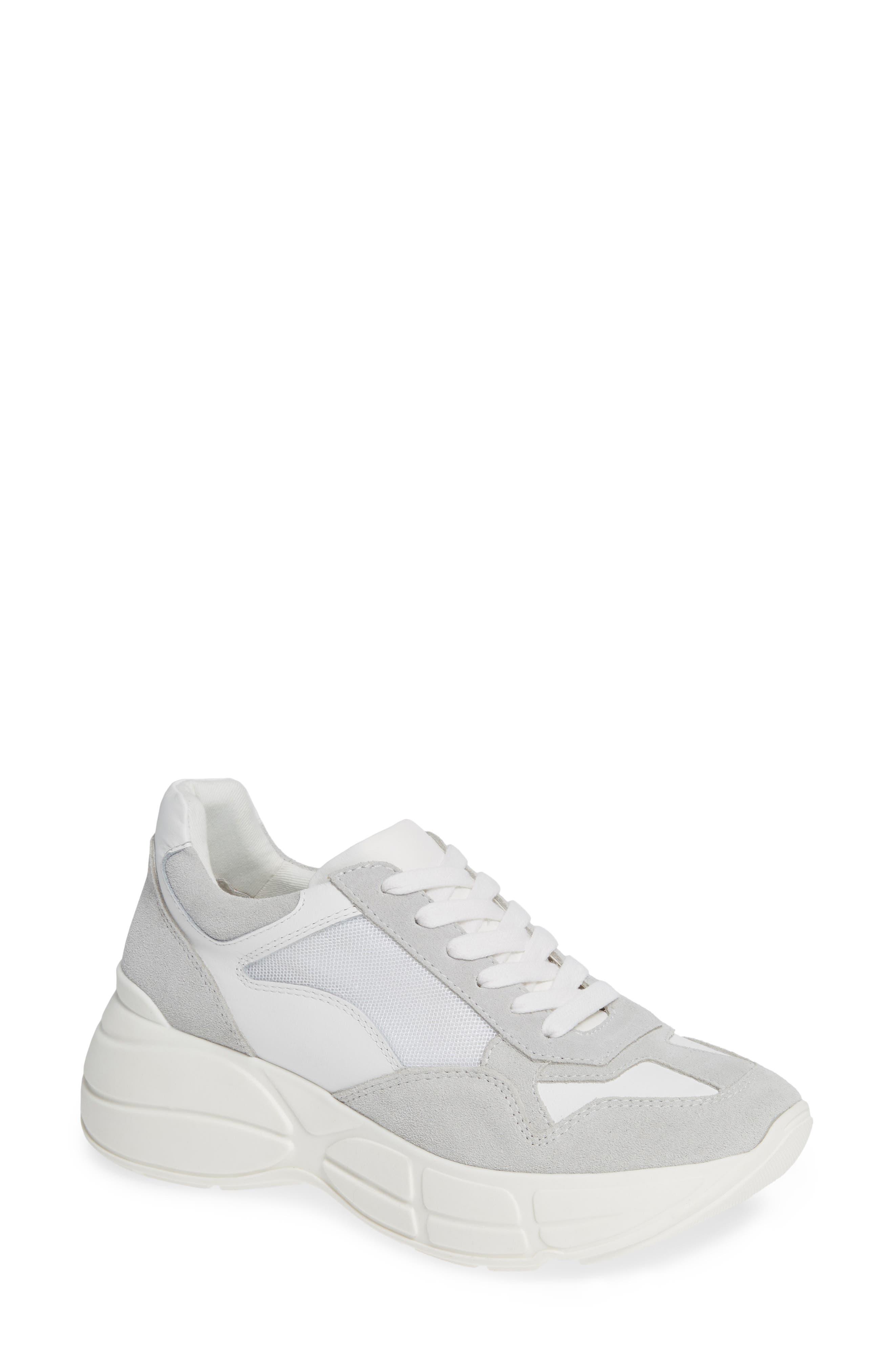 Memory Platform Wedge Sneaker,                         Main,                         color, WHITE MULTI