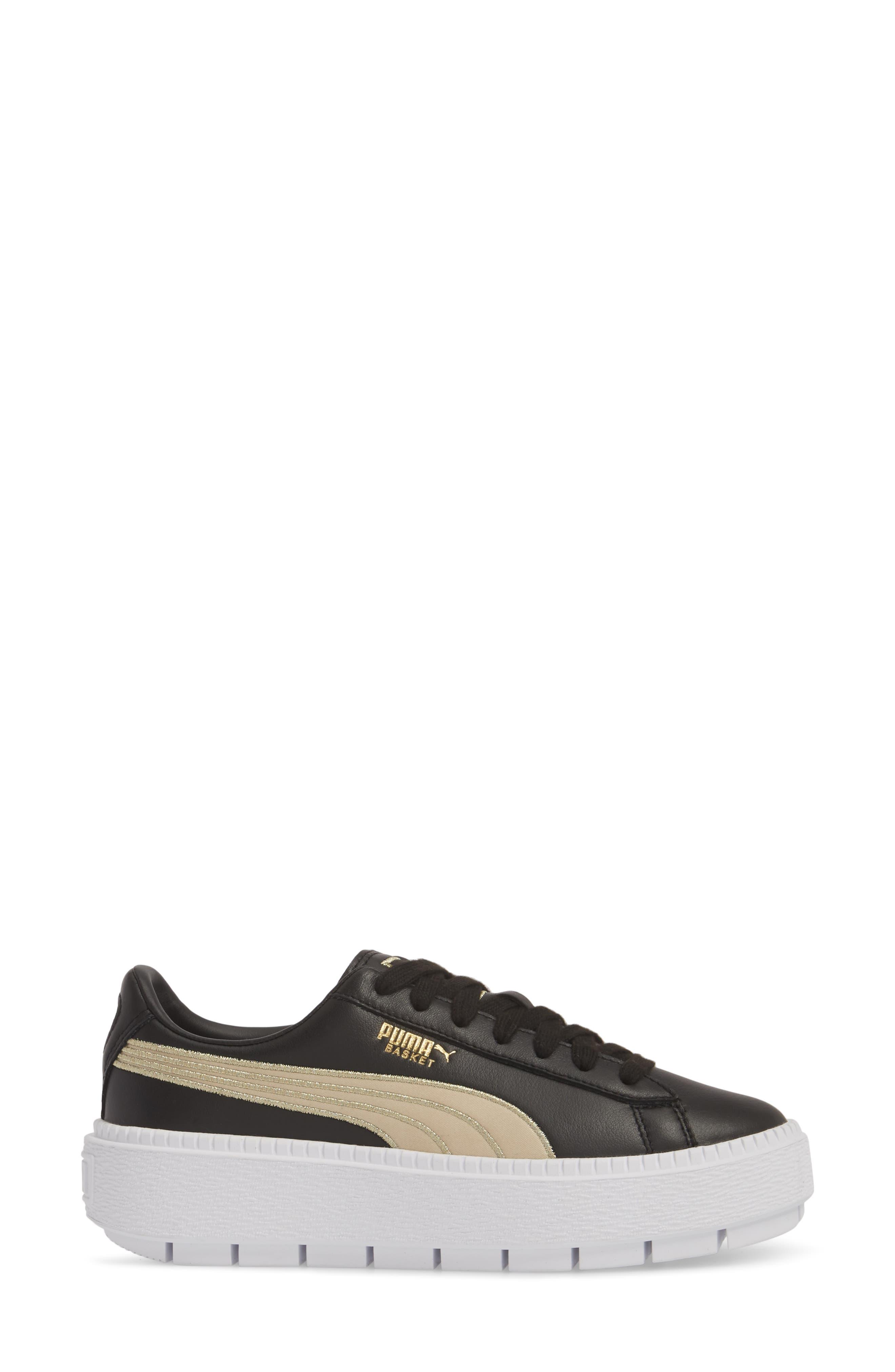 Platform Trace Sneaker,                             Alternate thumbnail 3, color,                             001