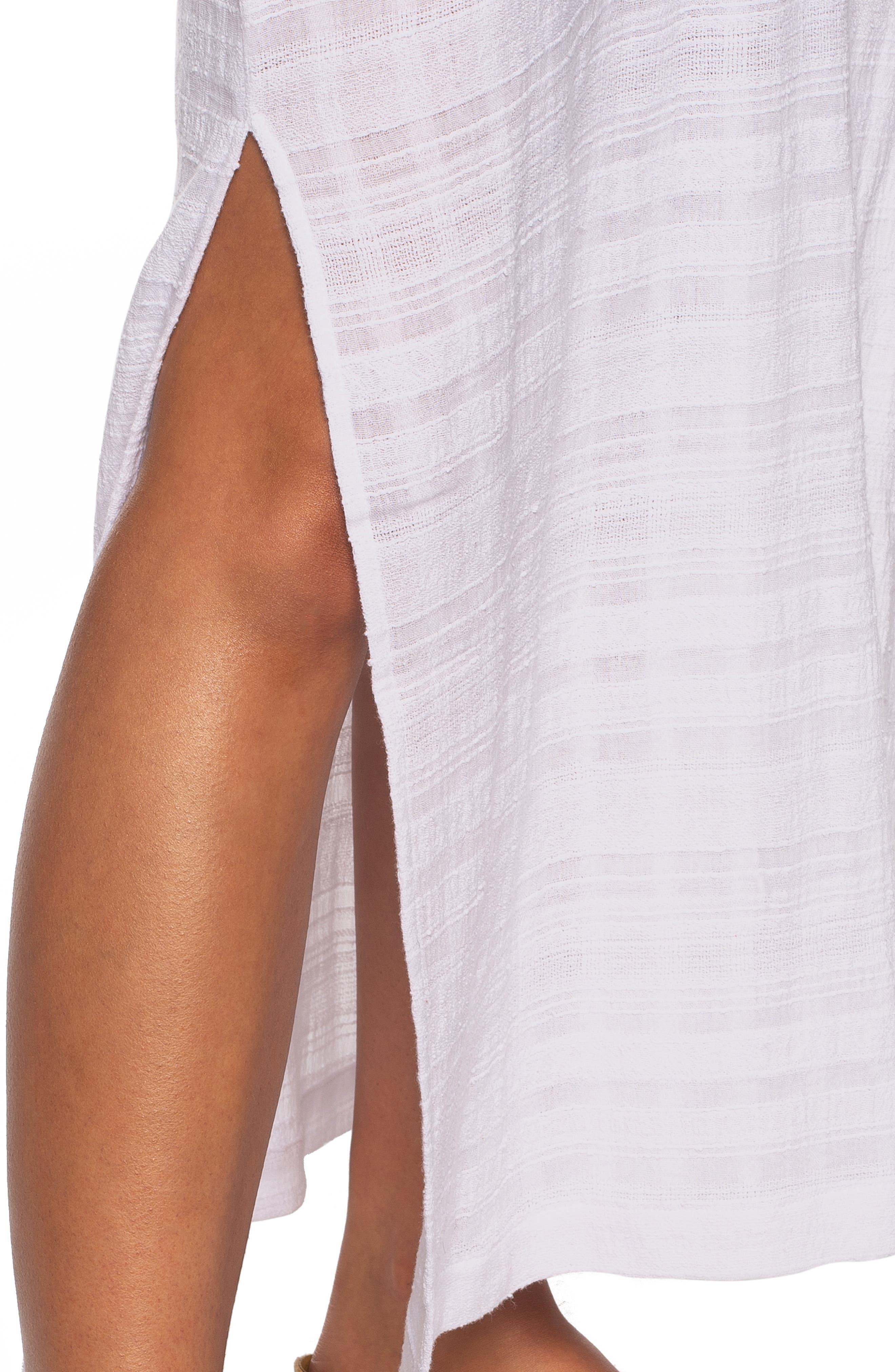 Tasha Cover-Up Maxi Dress,                             Alternate thumbnail 5, color,                             WHITE