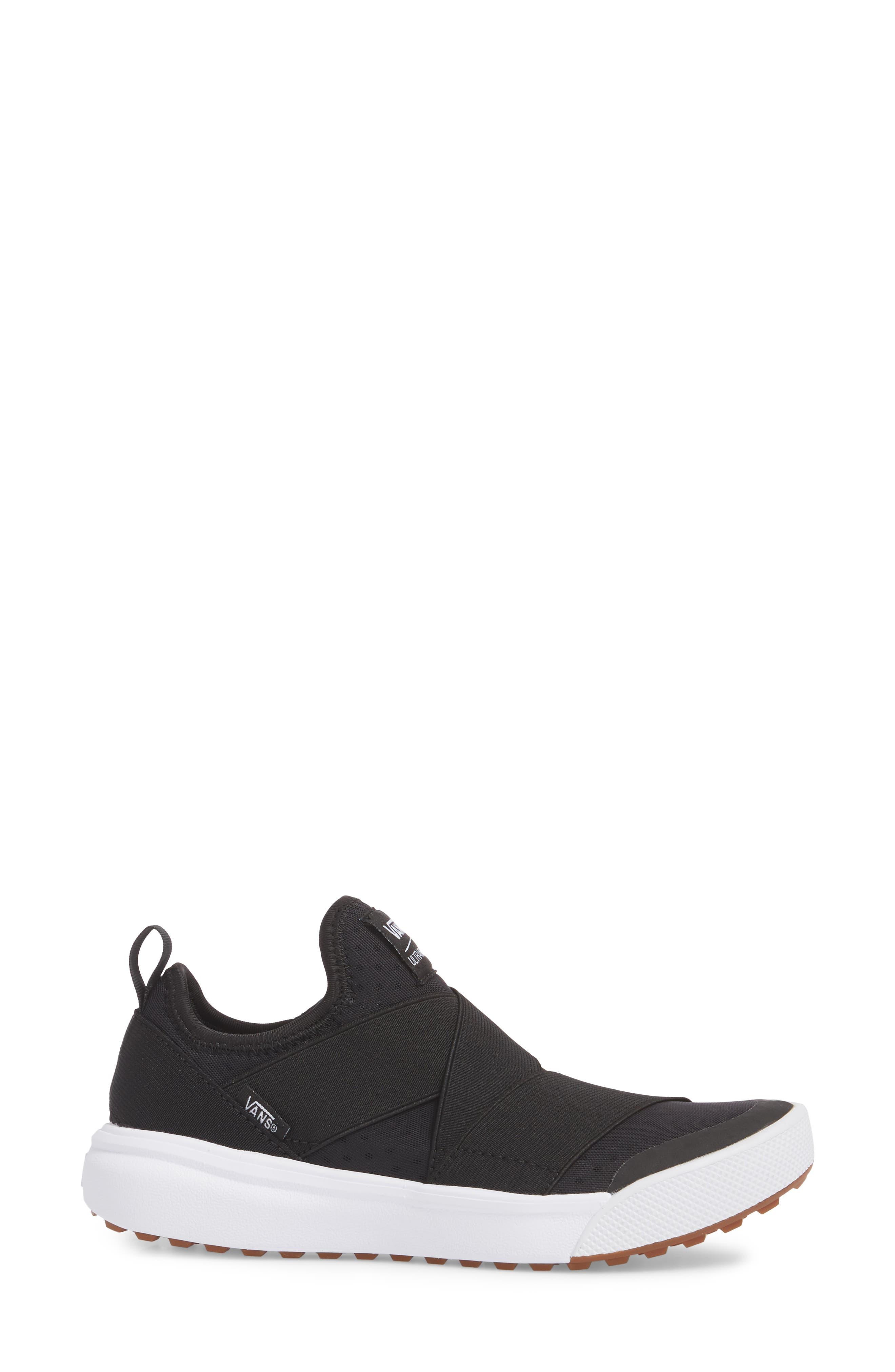 UltraRange Gore Slip-On Sneaker,                             Alternate thumbnail 3, color,                             BLACK