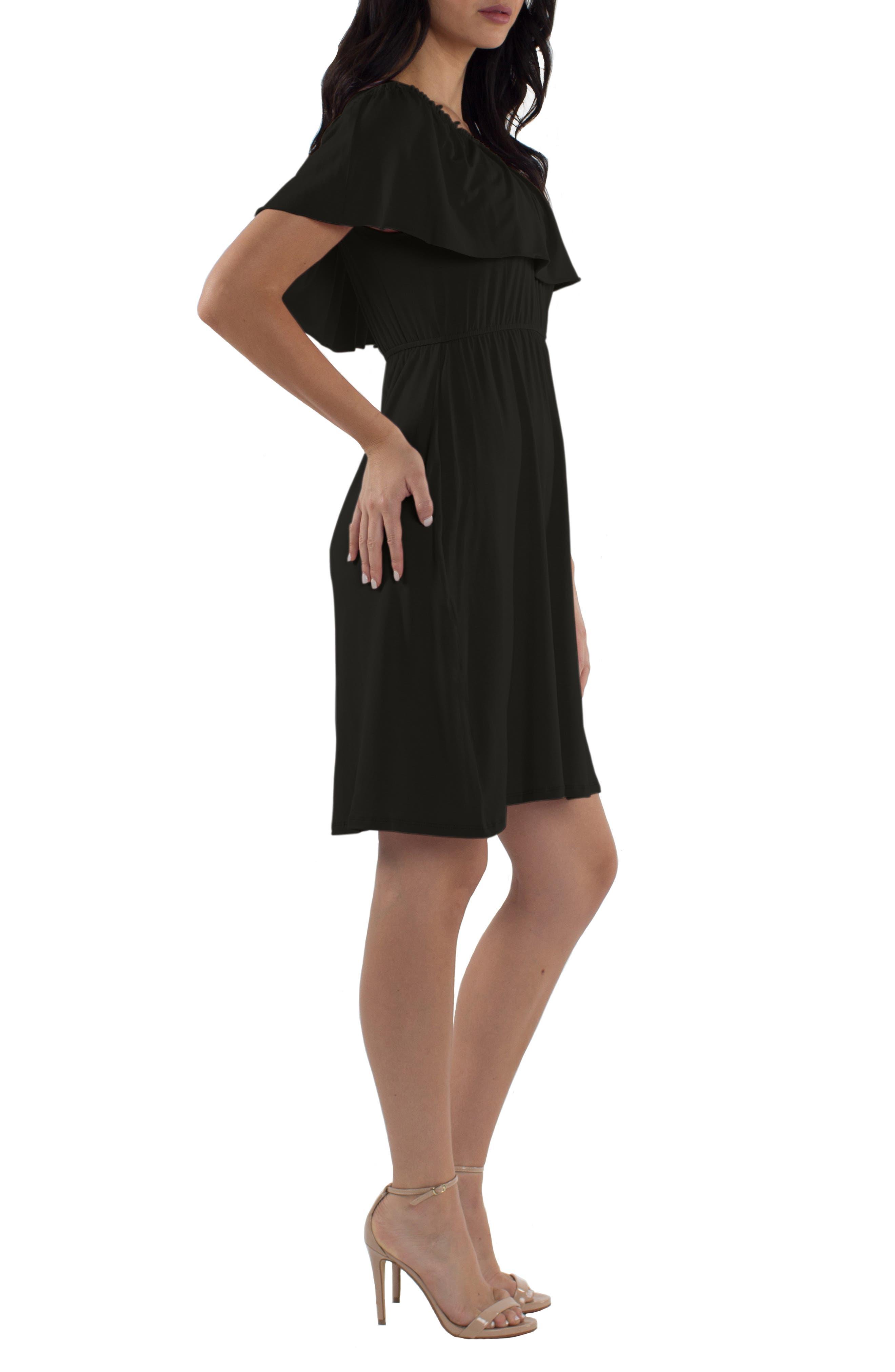 Reagan Nursing Dress,                             Alternate thumbnail 3, color,                             BLACK