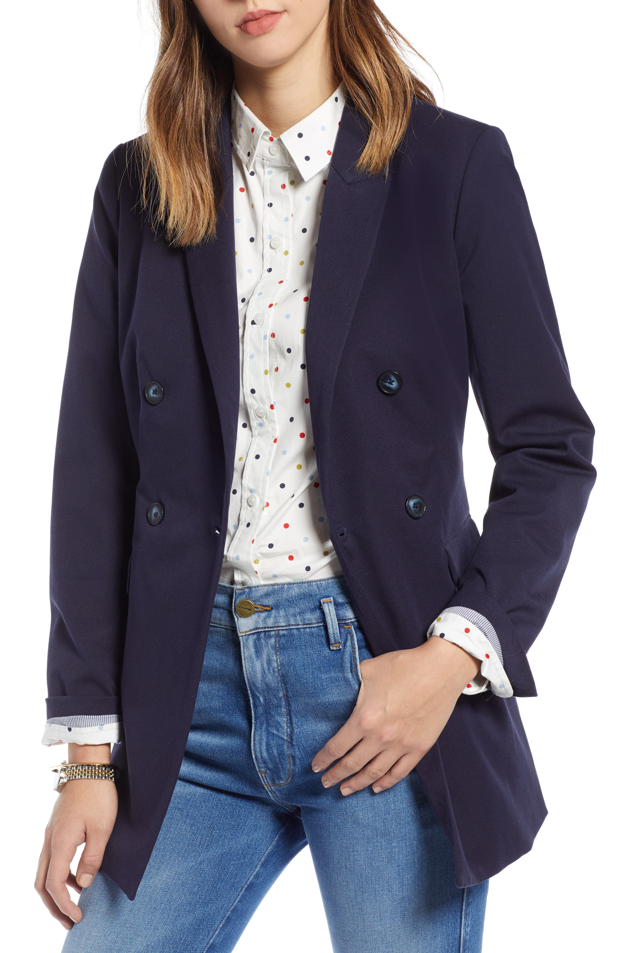 1901,                             Double Breasted Blazer,                             Main thumbnail 1, color,                             NAVY NIGHT