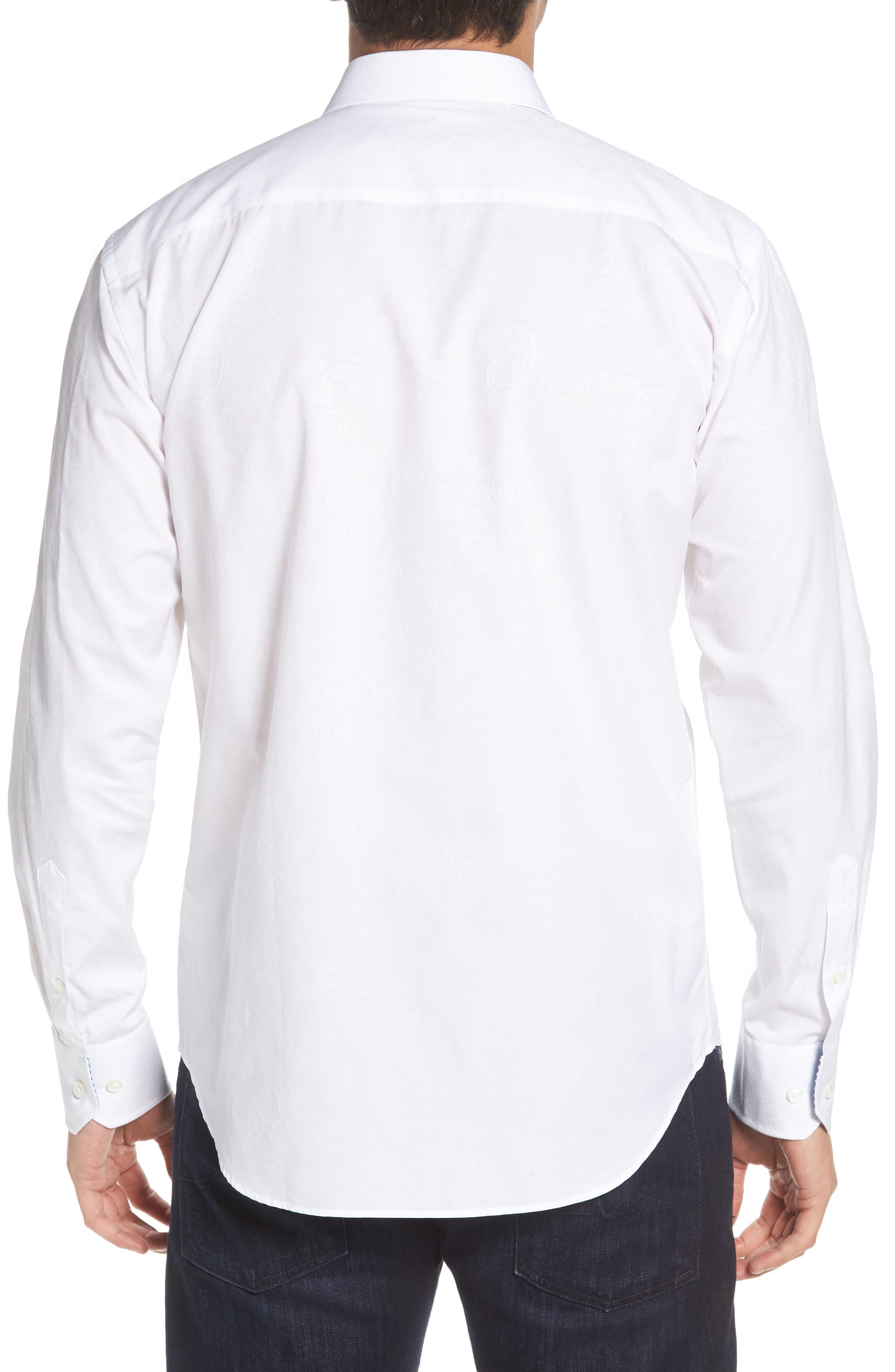 Shaped Fit Sport Shirt,                             Alternate thumbnail 2, color,                             WHITE