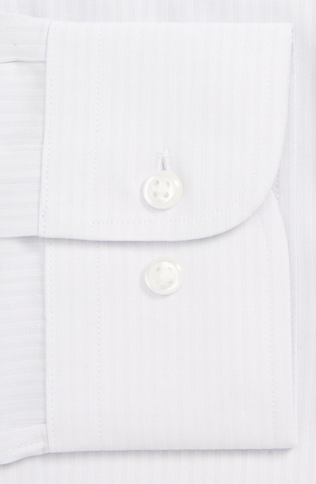 Tech-Smart Traditional Fit Stretch Stripe Dress Shirt,                             Alternate thumbnail 2, color,                             GREY MICRO