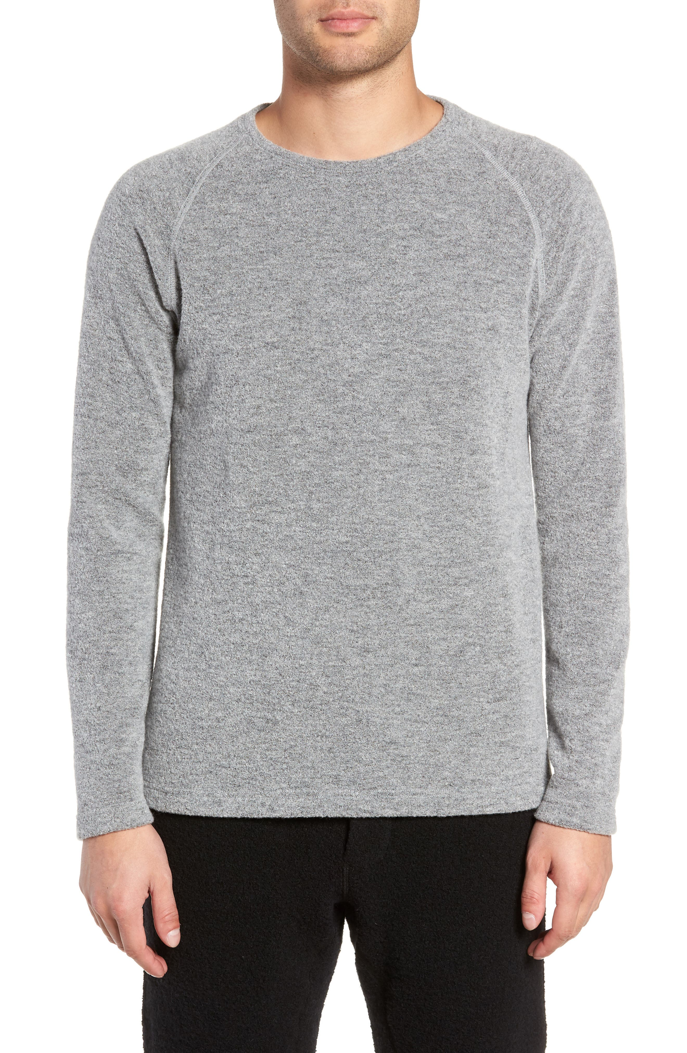Wings + Horns Felted Wool Sweater, Grey