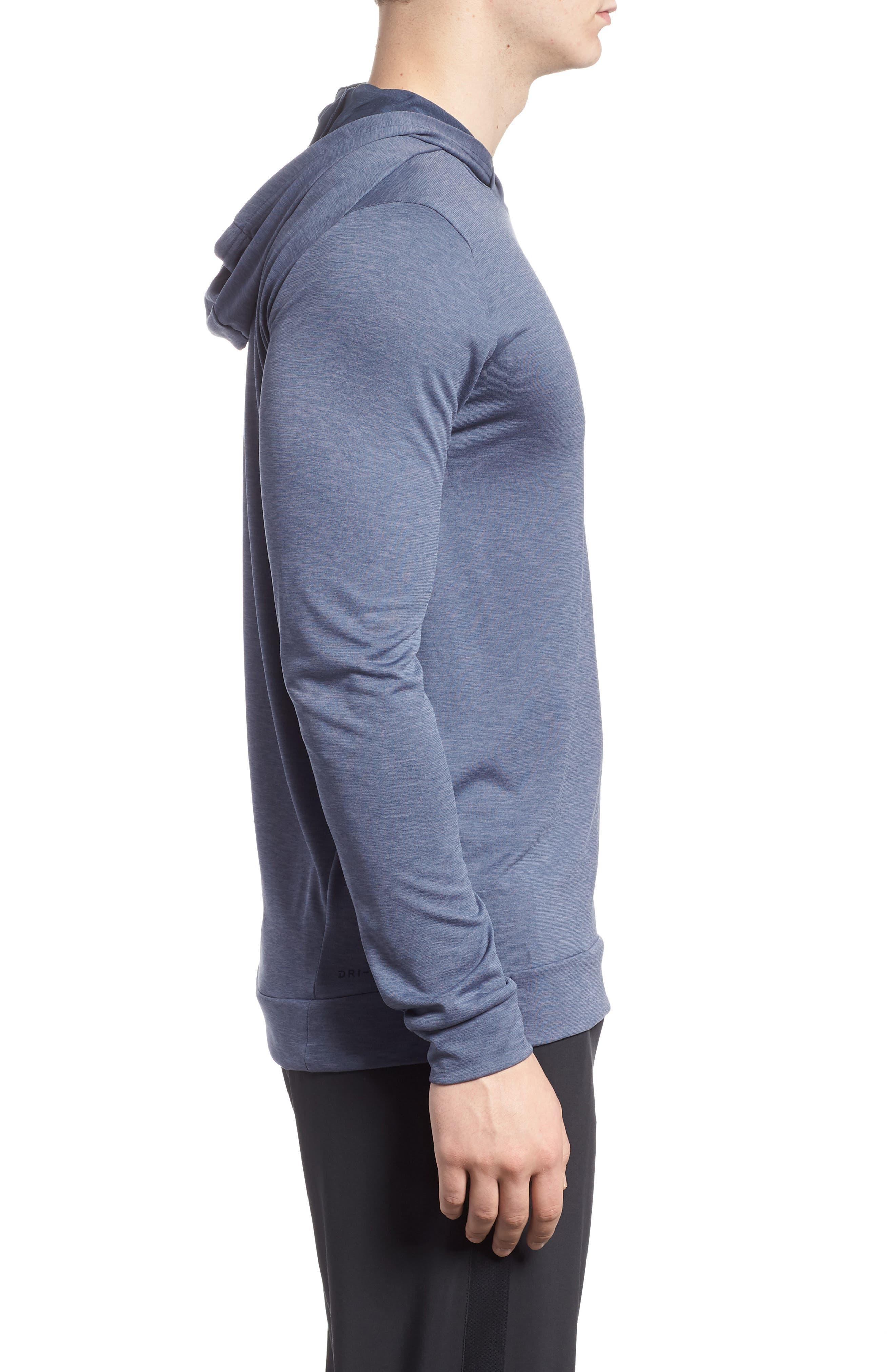 NIKE,                             Hyper Dry Regular Fit Training Hoodie,                             Alternate thumbnail 3, color,                             021