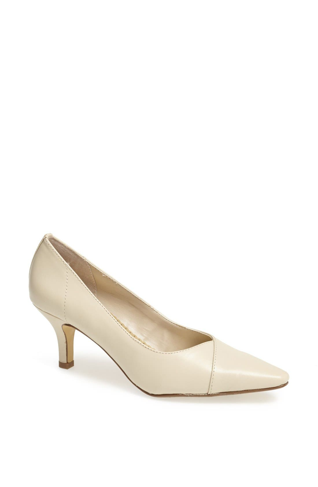 'Wow' Kitten Heel Pump,                         Main,                         color, BONE