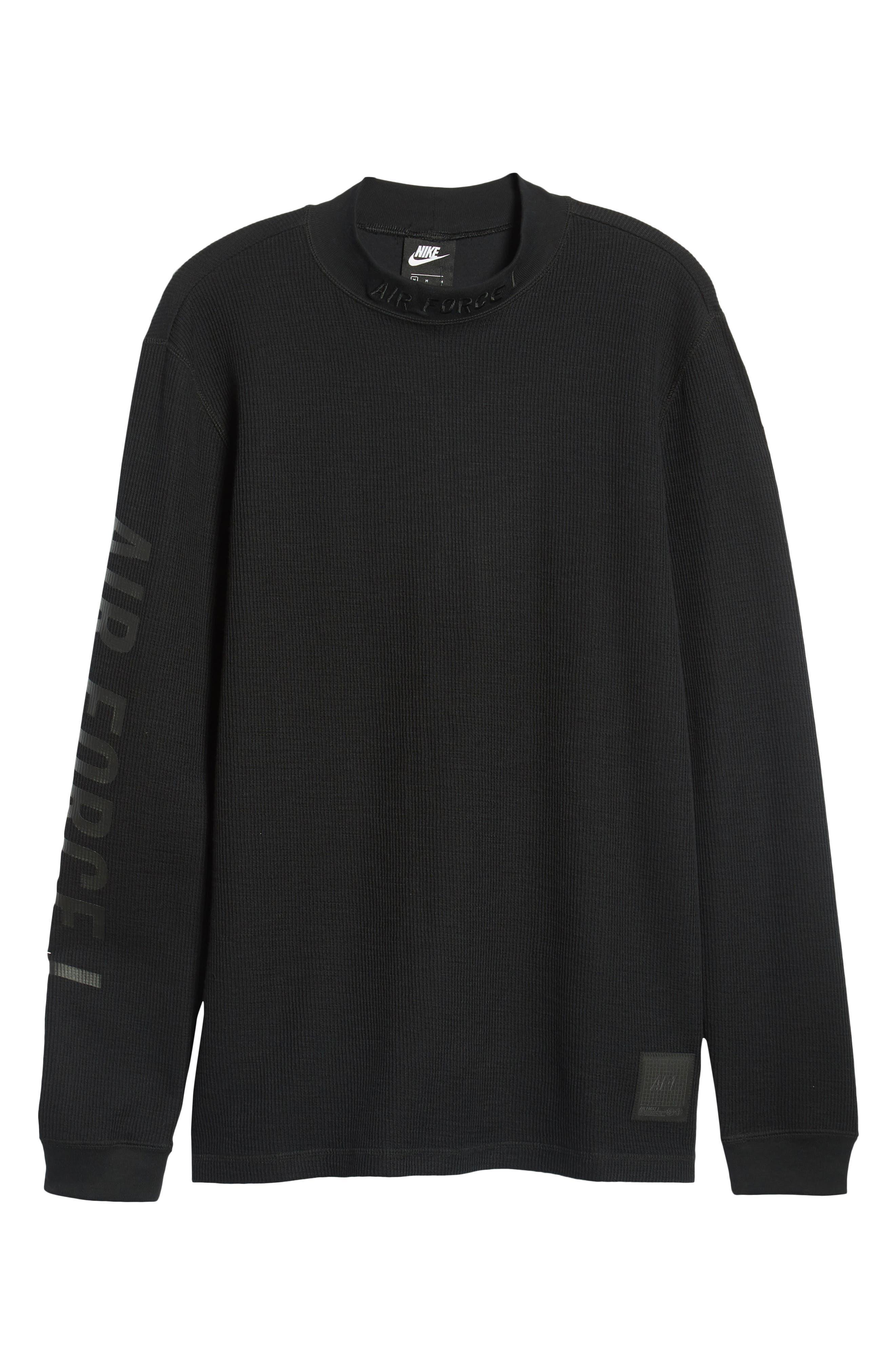 Sportswear Air Force 1 Long Sleeve Top,                             Alternate thumbnail 6, color,                             BLACK