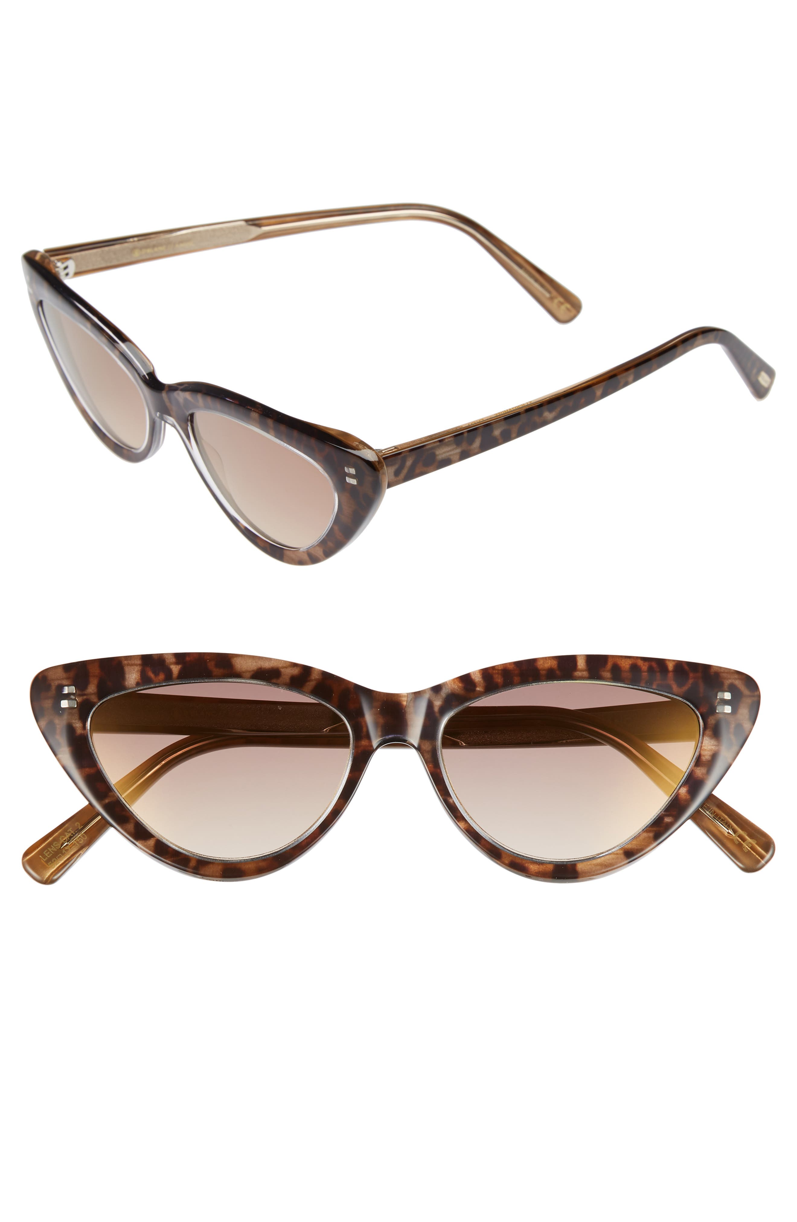 D'BLANC A-Muse 52mm Sunglasses,                         Main,                         color, CHEETAH