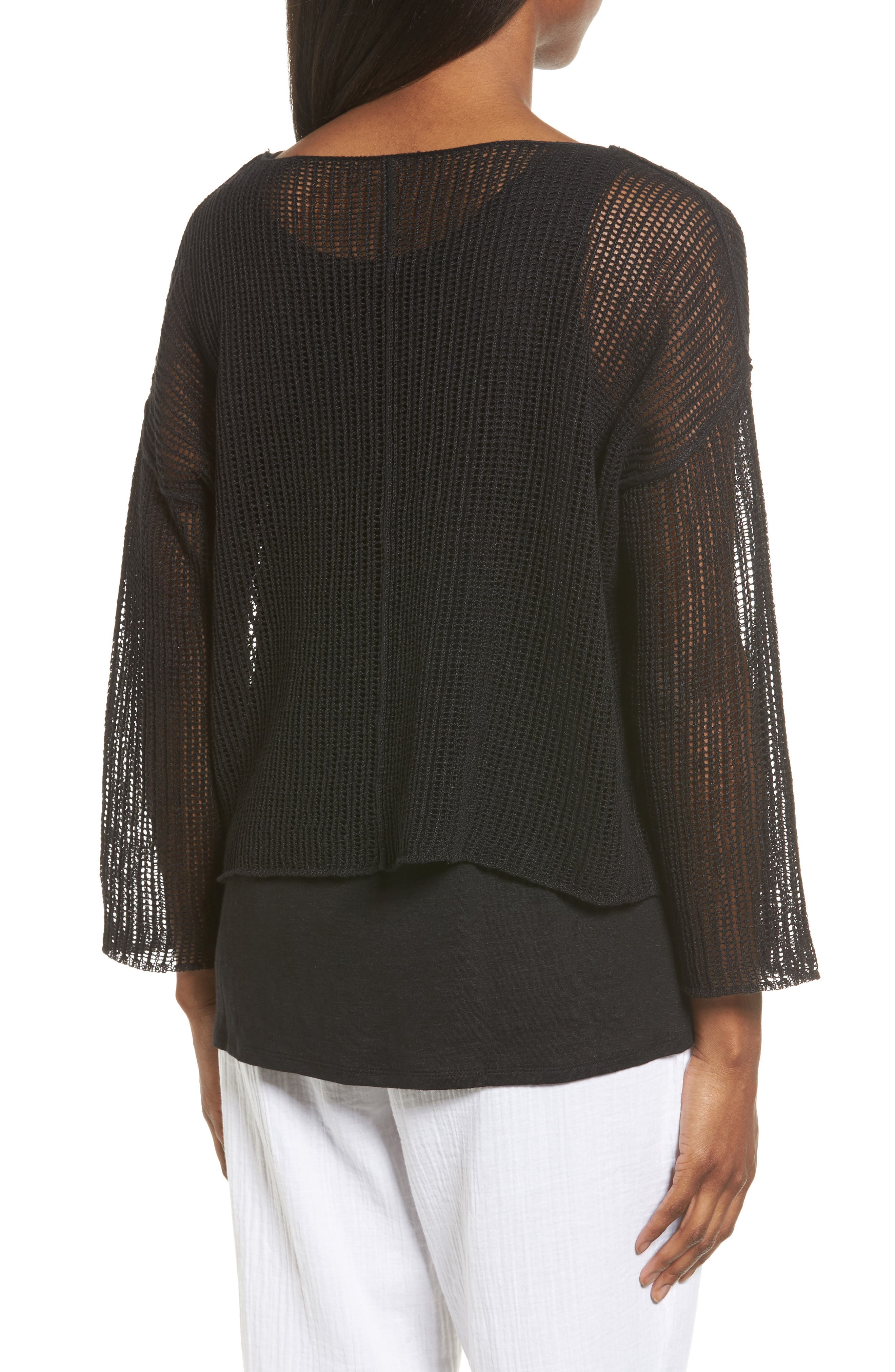 Organic Linen Crop Sweater,                             Alternate thumbnail 6, color,
