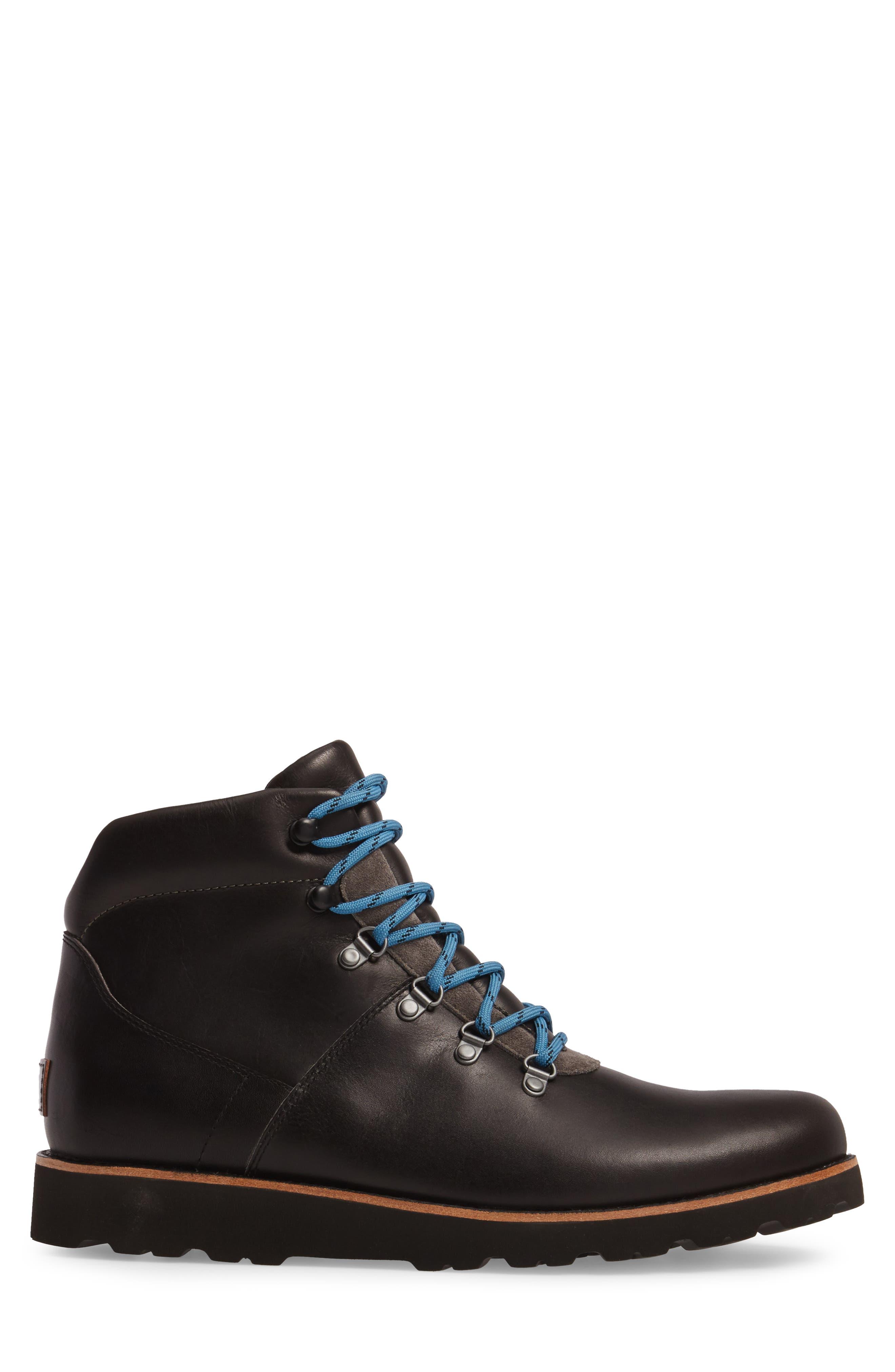 Halfstein Plain Toe Boot,                             Alternate thumbnail 3, color,                             CHARCOAL