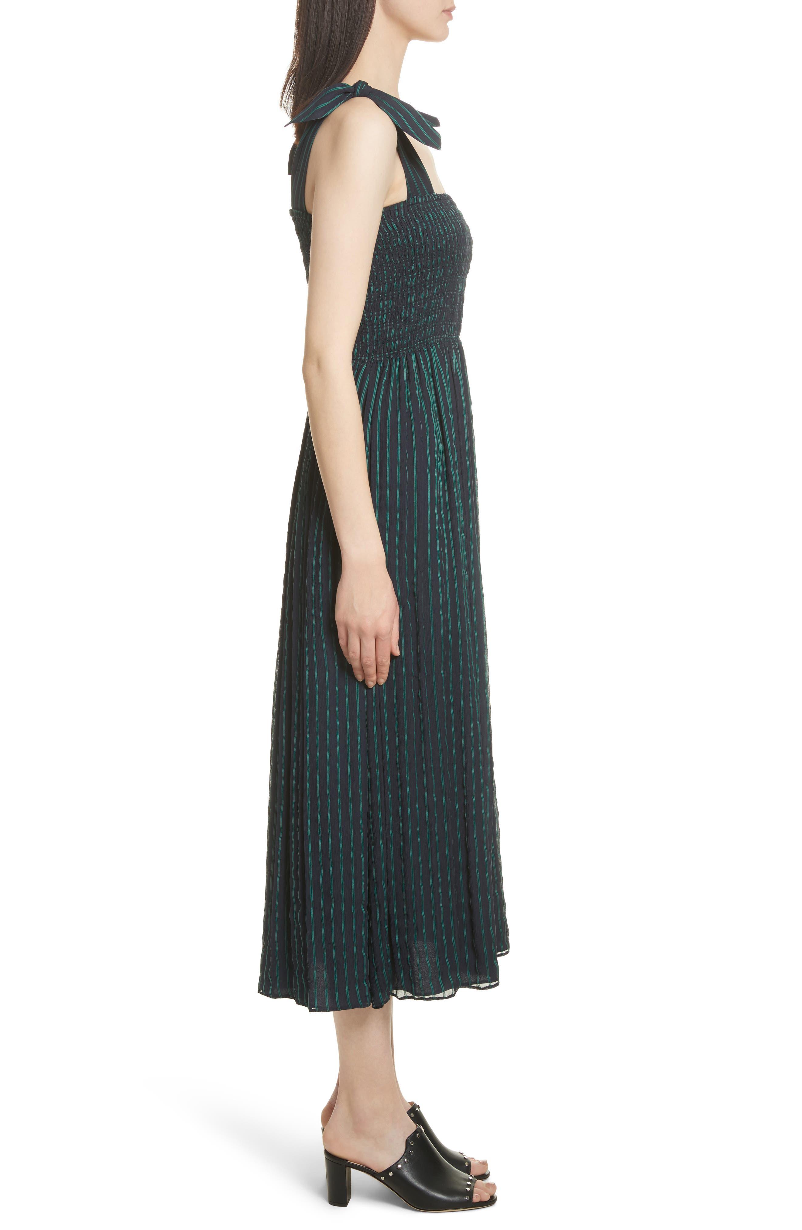 Stripe Chiffon Dress,                             Alternate thumbnail 3, color,                             470
