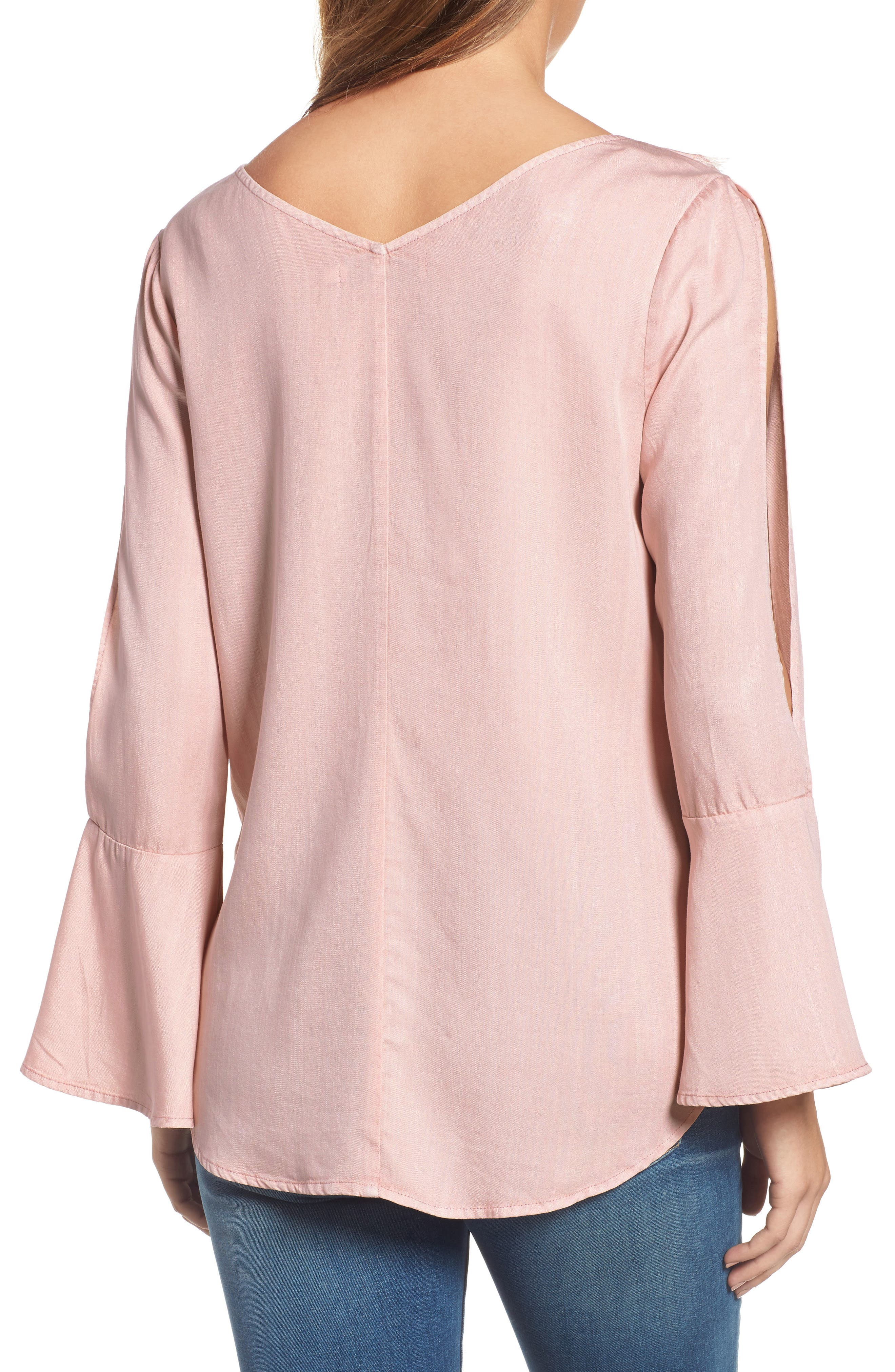 Ruffle Front Top,                             Alternate thumbnail 2, color,                             650