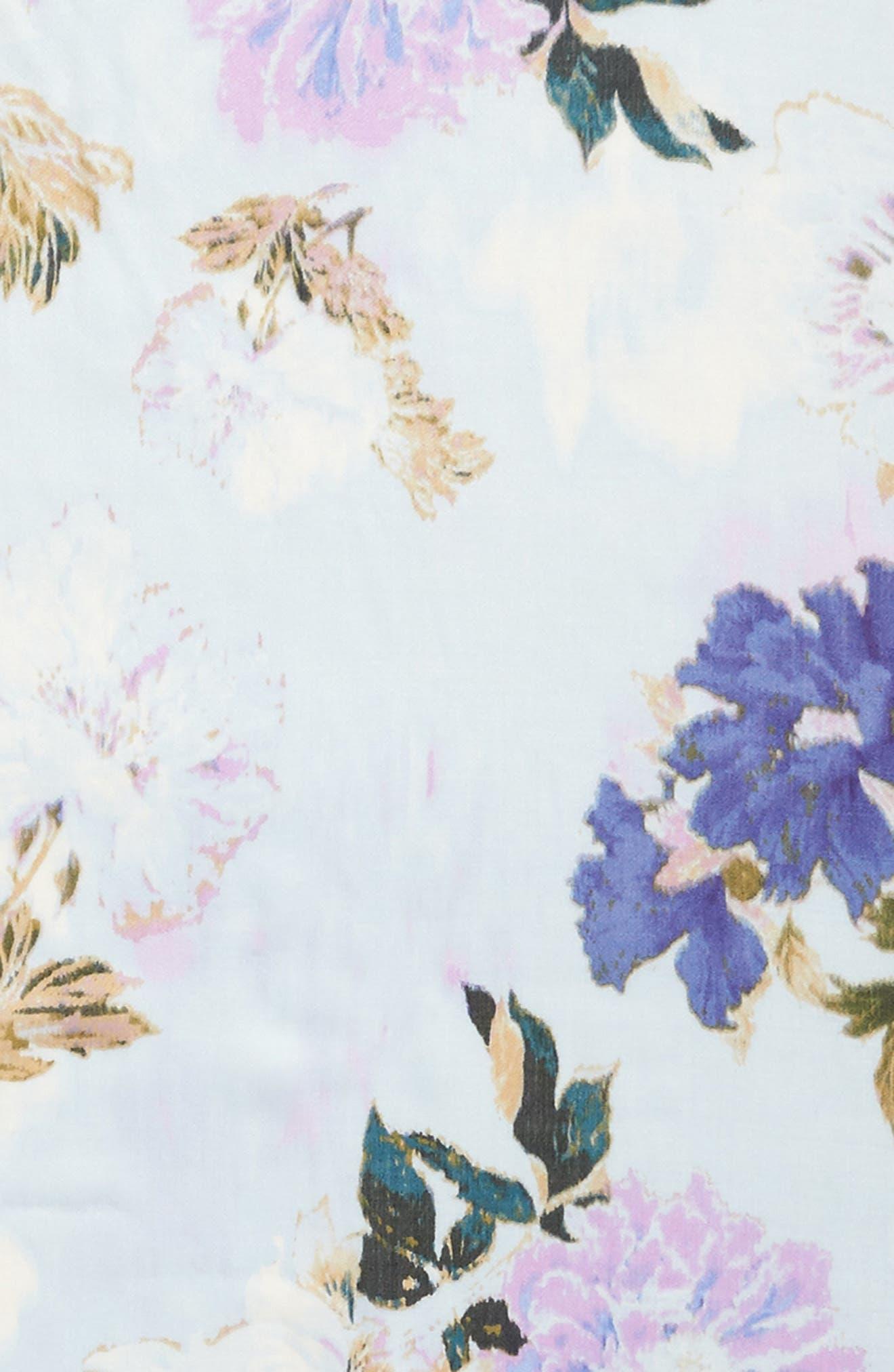 Eyelash Trim Print Cashmere & Silk Wrap,                             Alternate thumbnail 107, color,