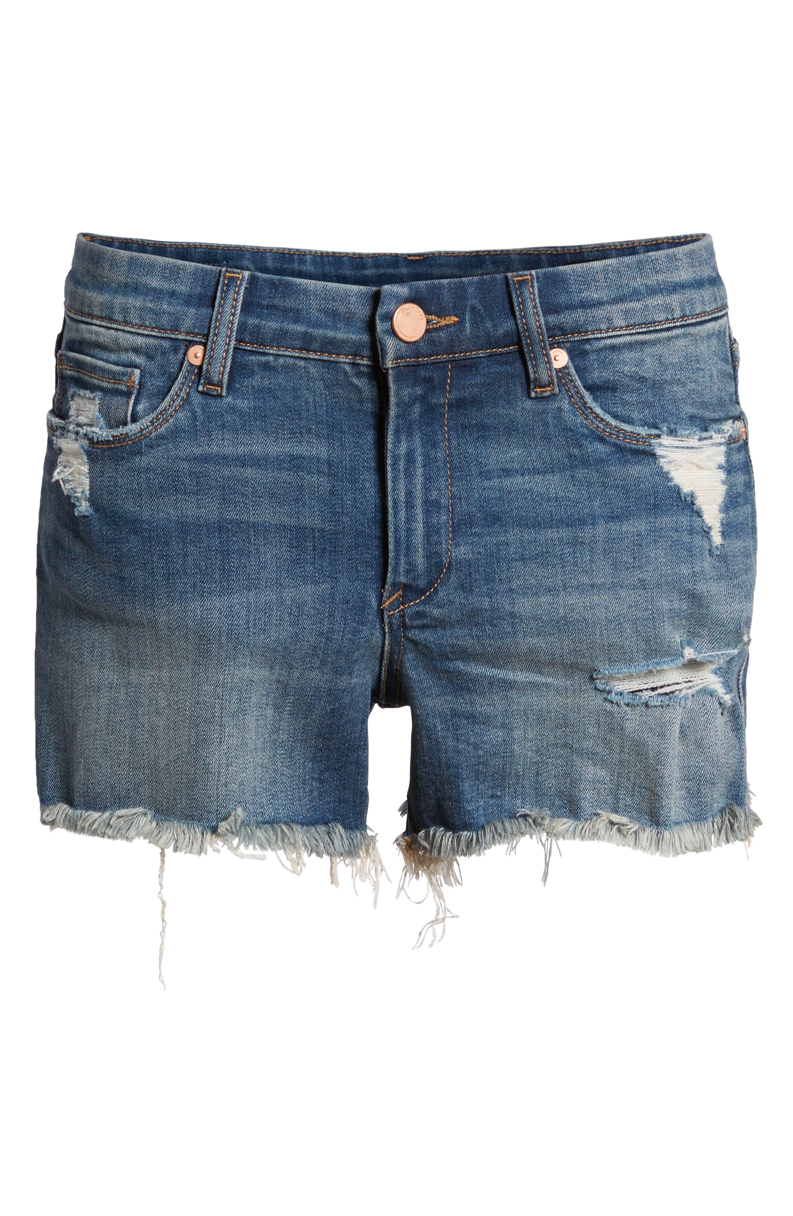The Essex Distressed Denim Shorts,                             Alternate thumbnail 7, color,                             ALTER EGO