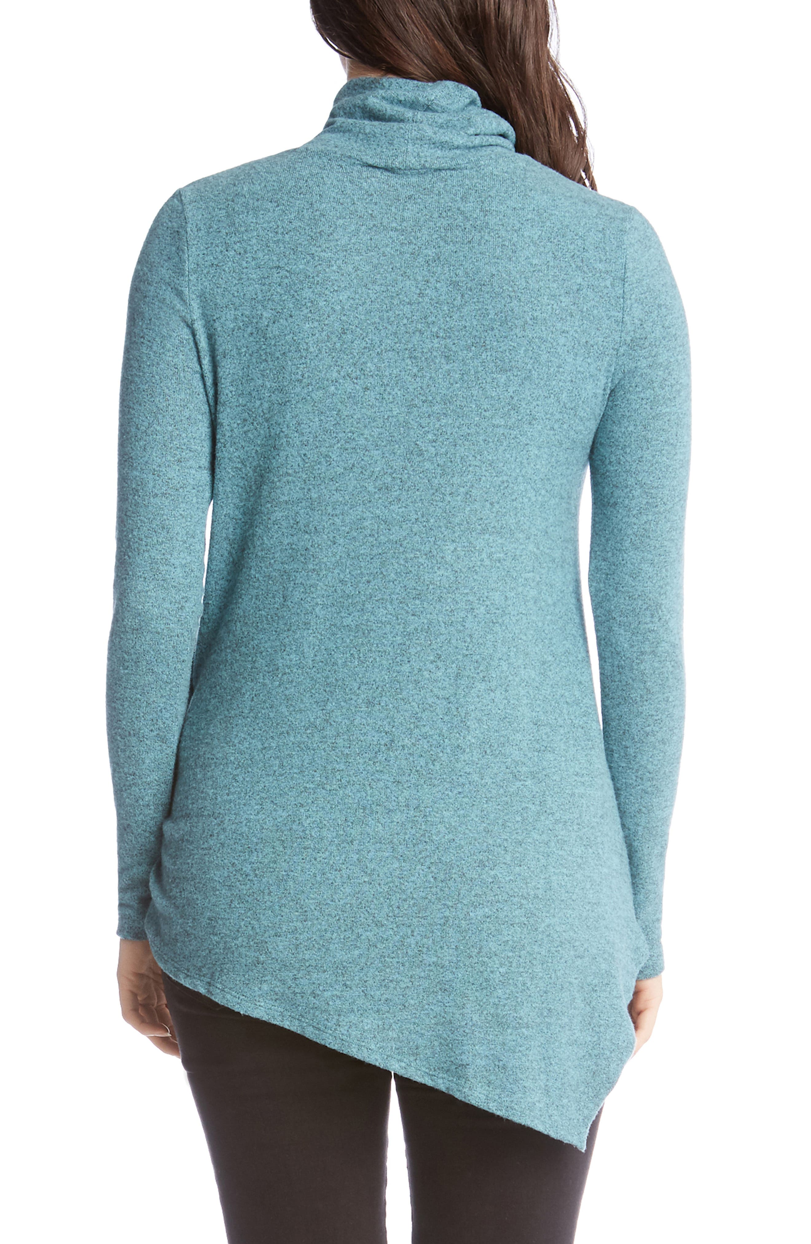 Asymmetrical Turtleneck Sweater,                             Alternate thumbnail 2, color,                             JADE