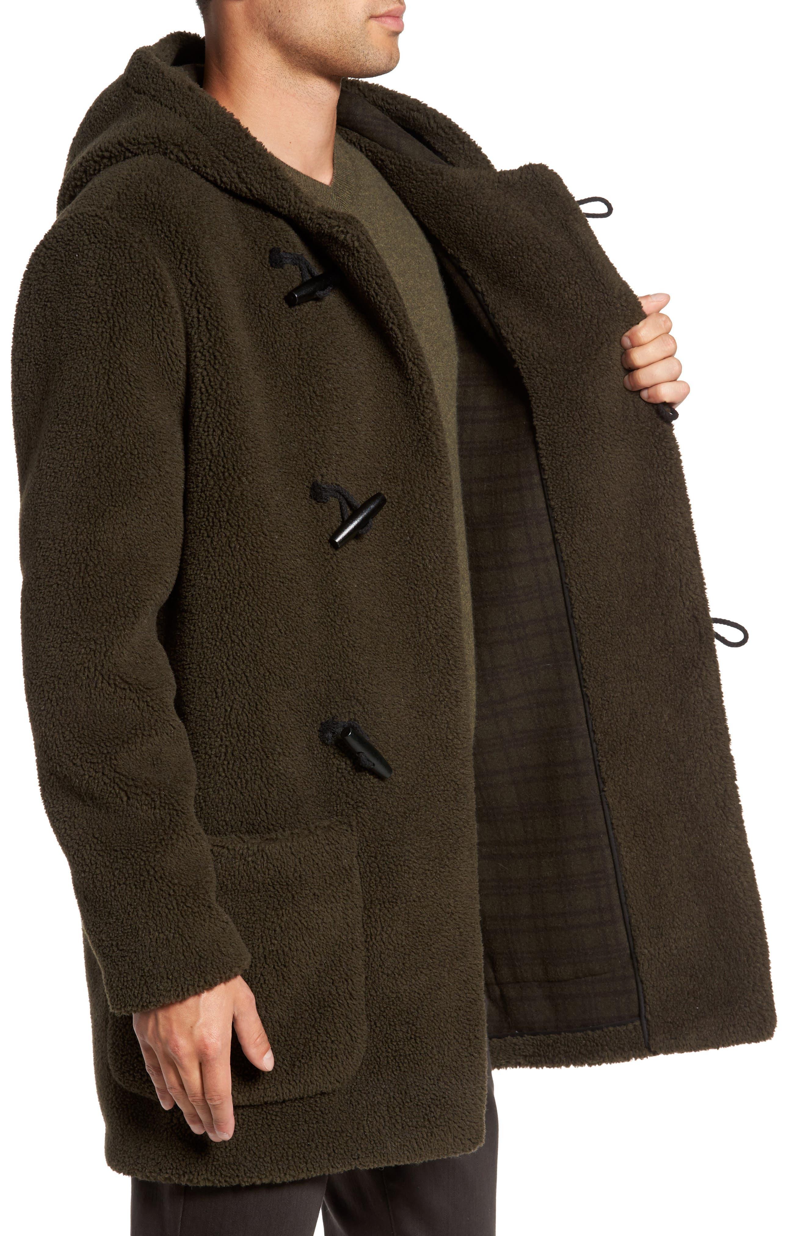 Fleece Toggle Coat,                             Alternate thumbnail 3, color,