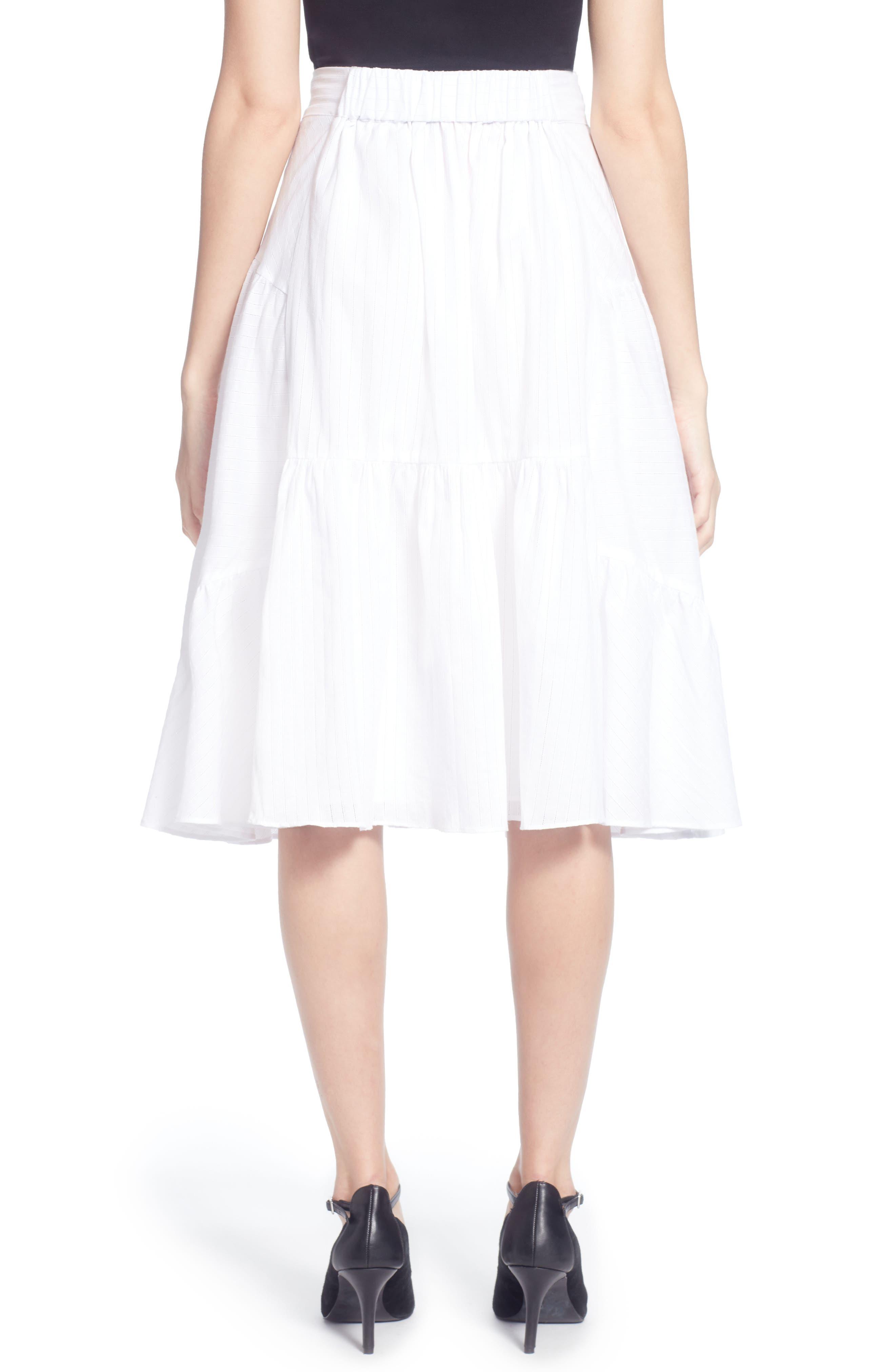 Dom Cotton Ruffle Skirt,                             Alternate thumbnail 2, color,                             100