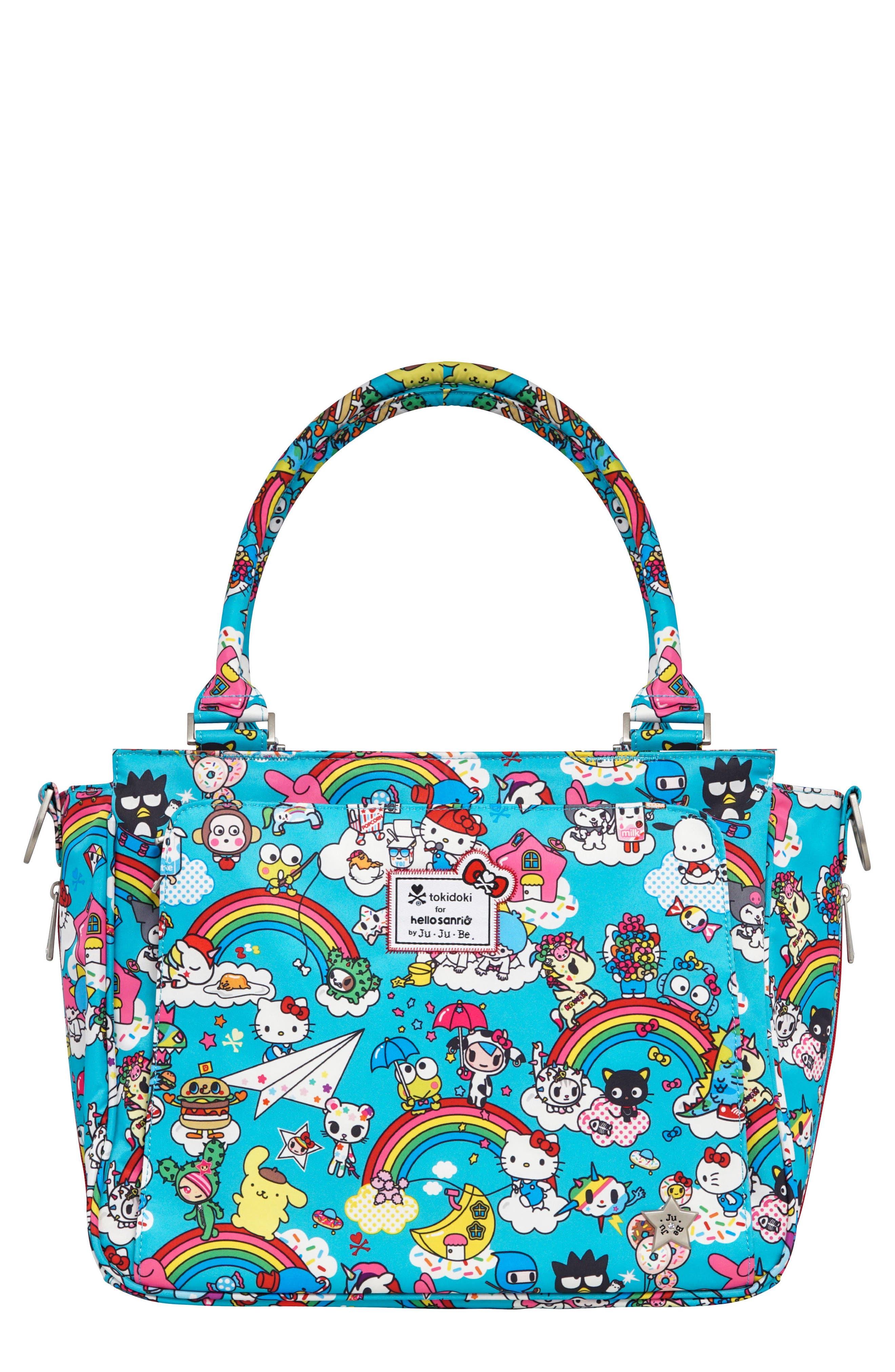 x tokidoki for Hello Sanrio Rainbow Dreams Classy Diaper Bag,                             Main thumbnail 1, color,