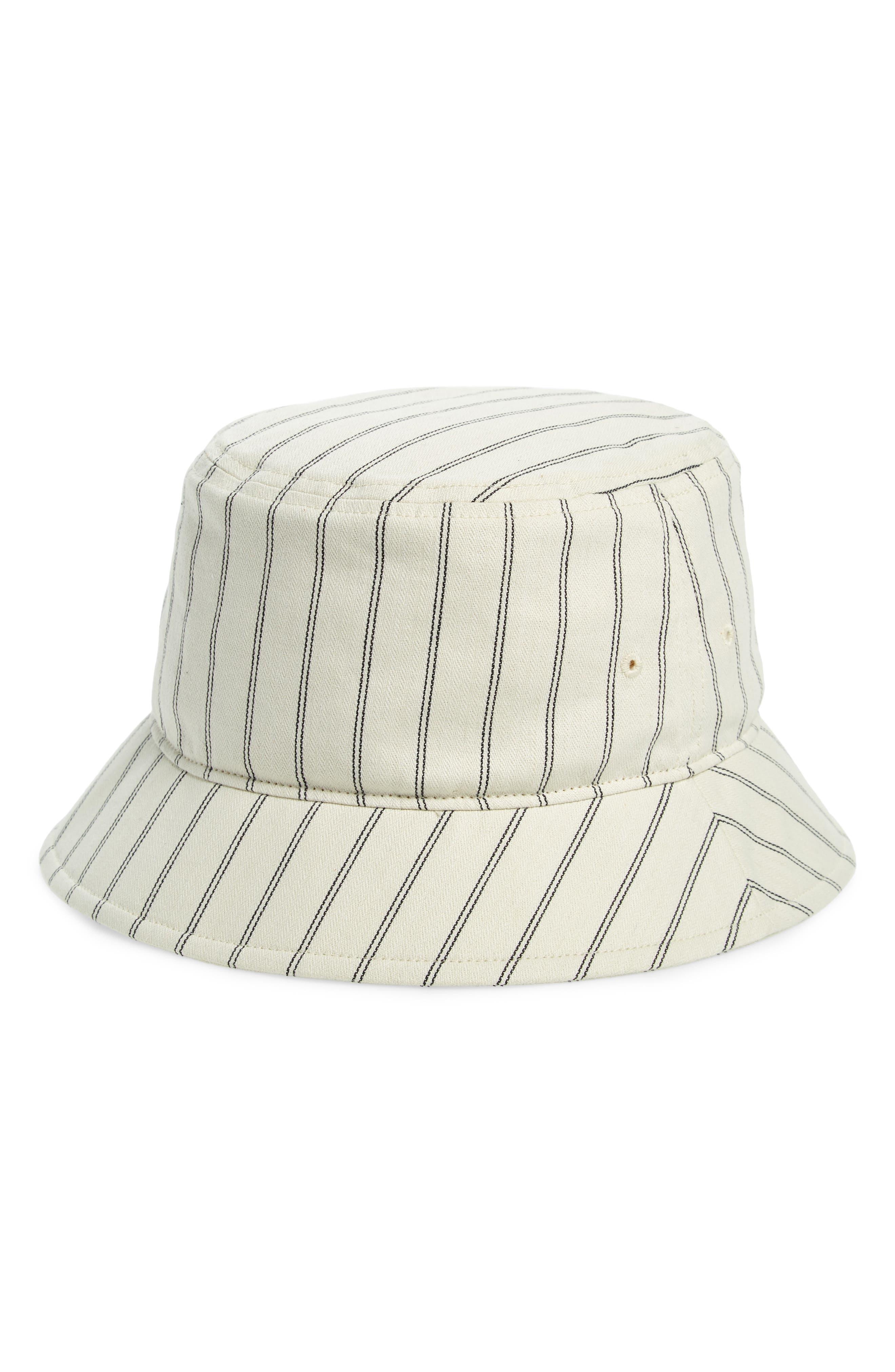 RAG & BONE,                             Ellis Bucket Hat,                             Main thumbnail 1, color,                             IVORY STRIPE