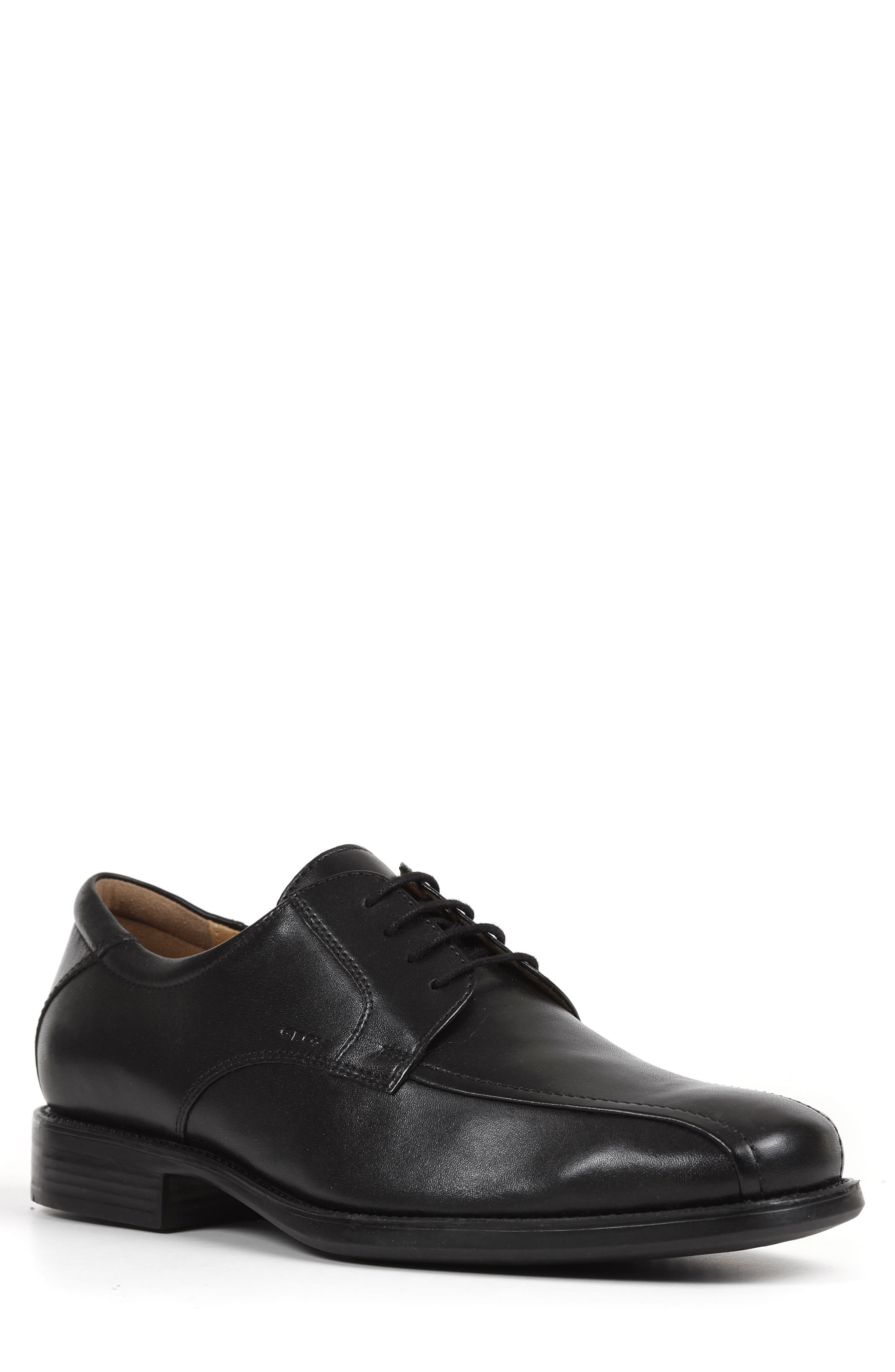 Federico 10 Lace-Up Derby,                             Main thumbnail 1, color,                             BLACK LEATHER