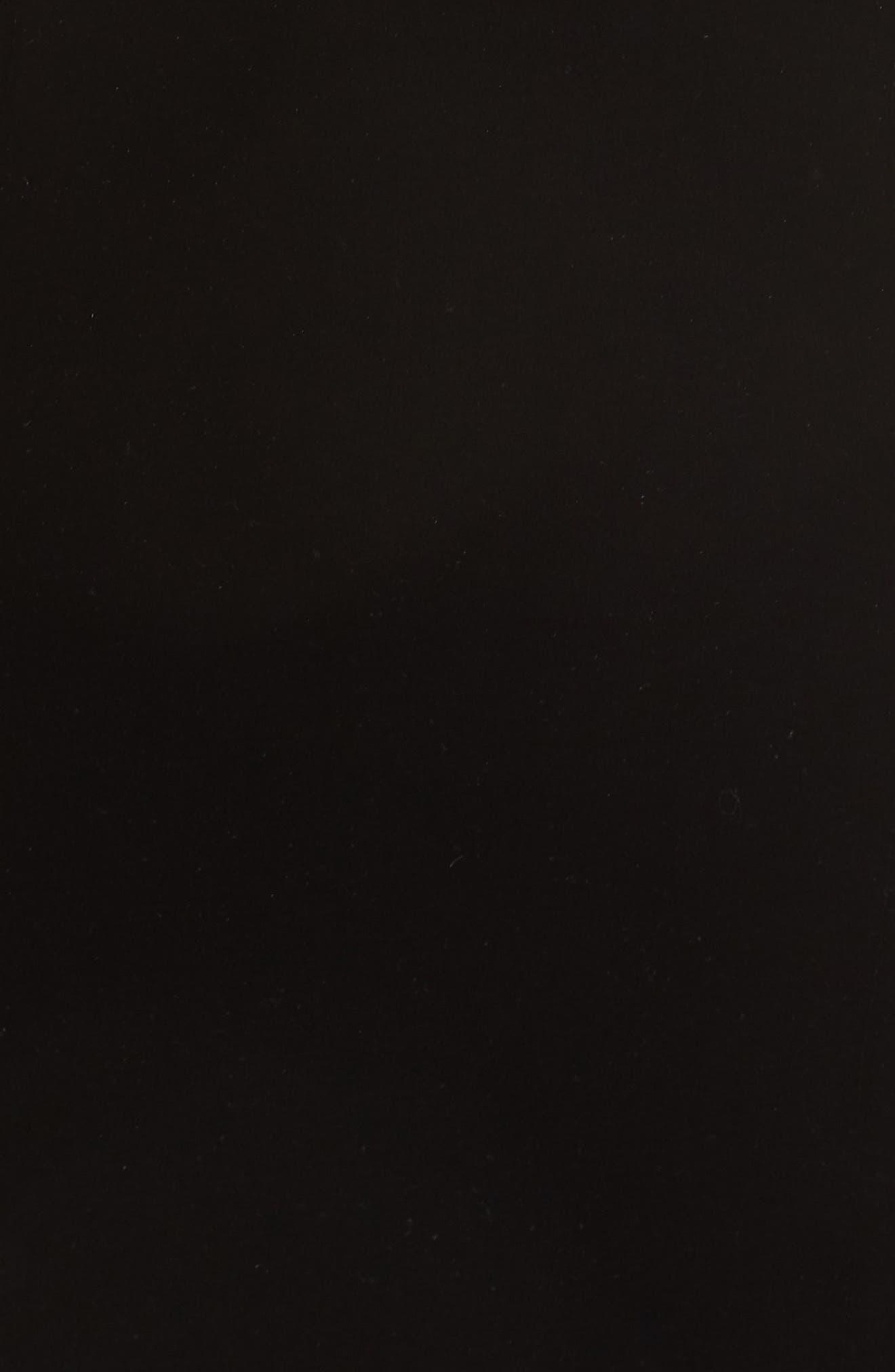 Strapless Velvet Gown,                             Alternate thumbnail 6, color,                             BLACK