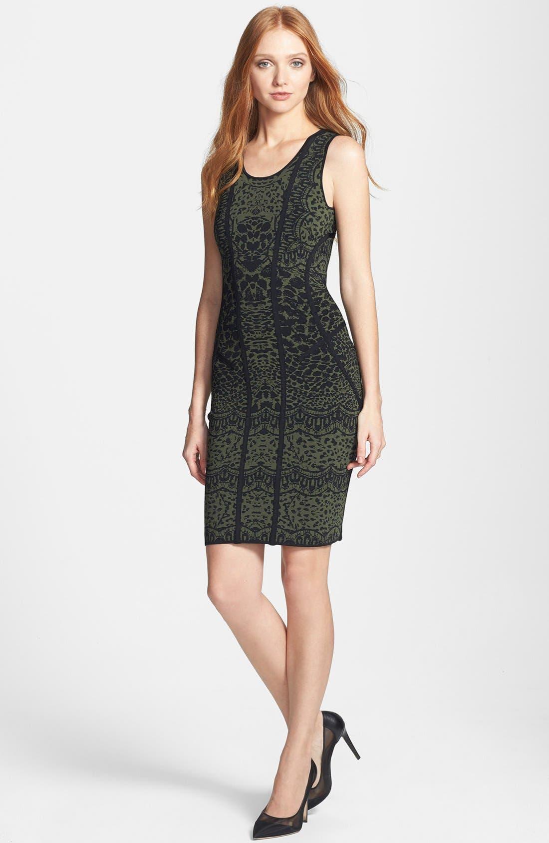 'Cairo' Print Knit Tank Dress,                             Alternate thumbnail 2, color,                             001