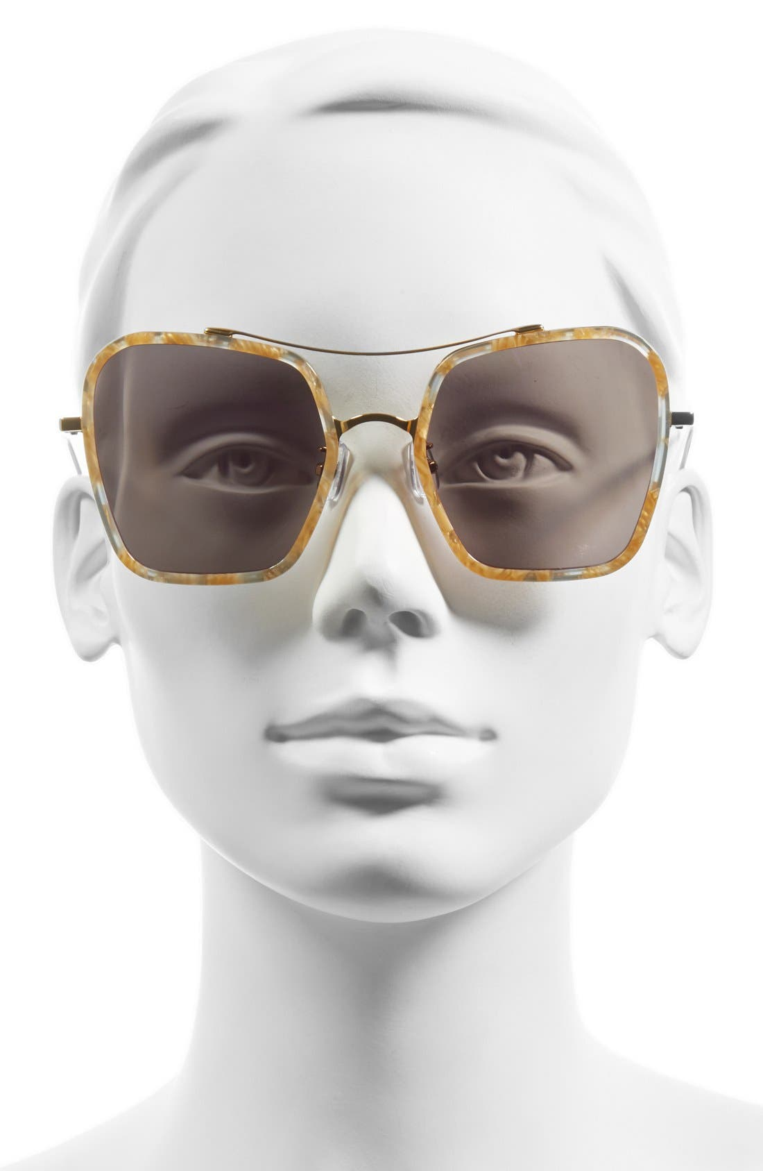 53mm Retro Square Sunglasses,                             Alternate thumbnail 2, color,                             200