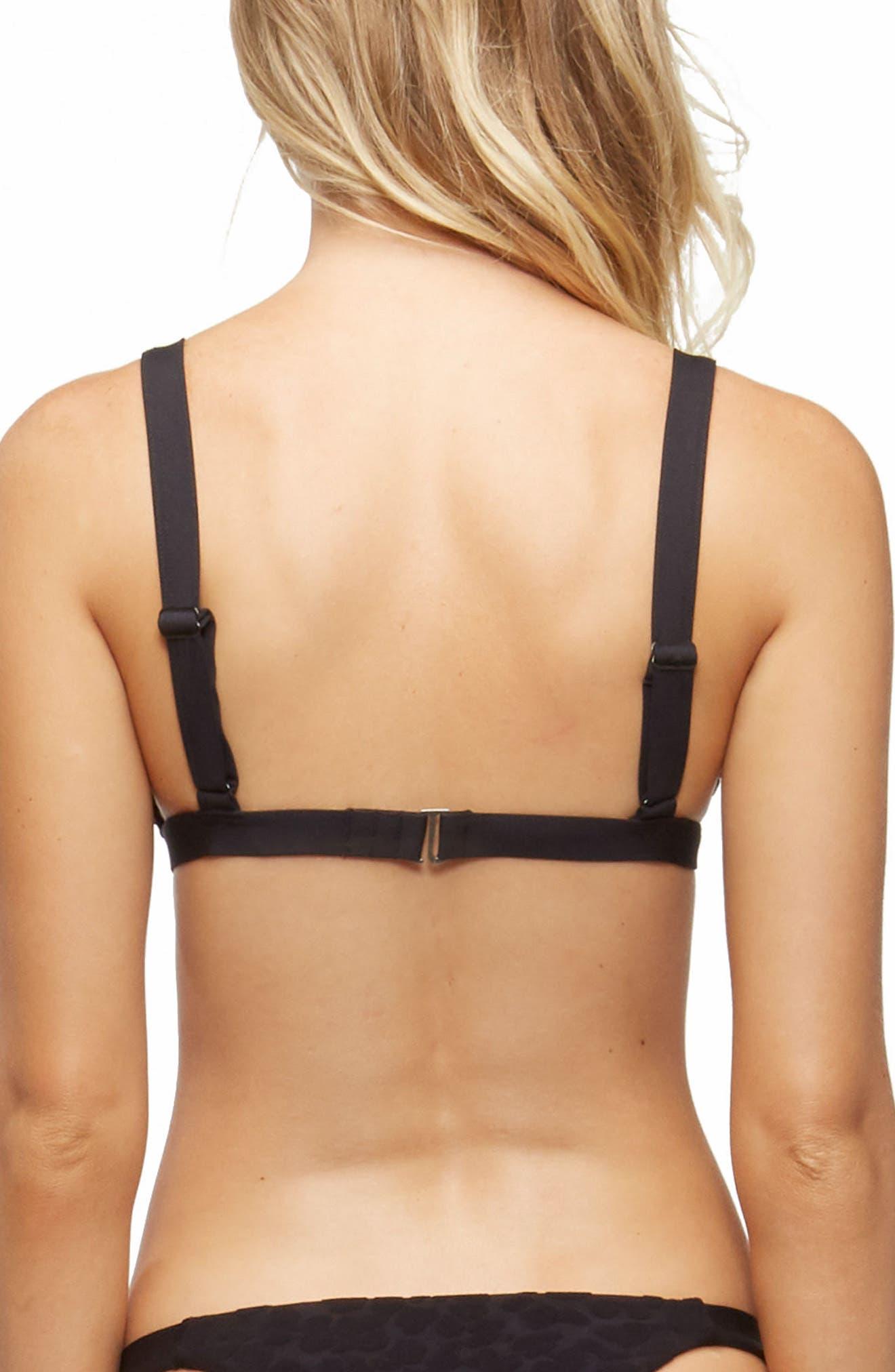 Addison Triangle Bikini Top,                             Alternate thumbnail 2, color,                             CHEETAH BLACK