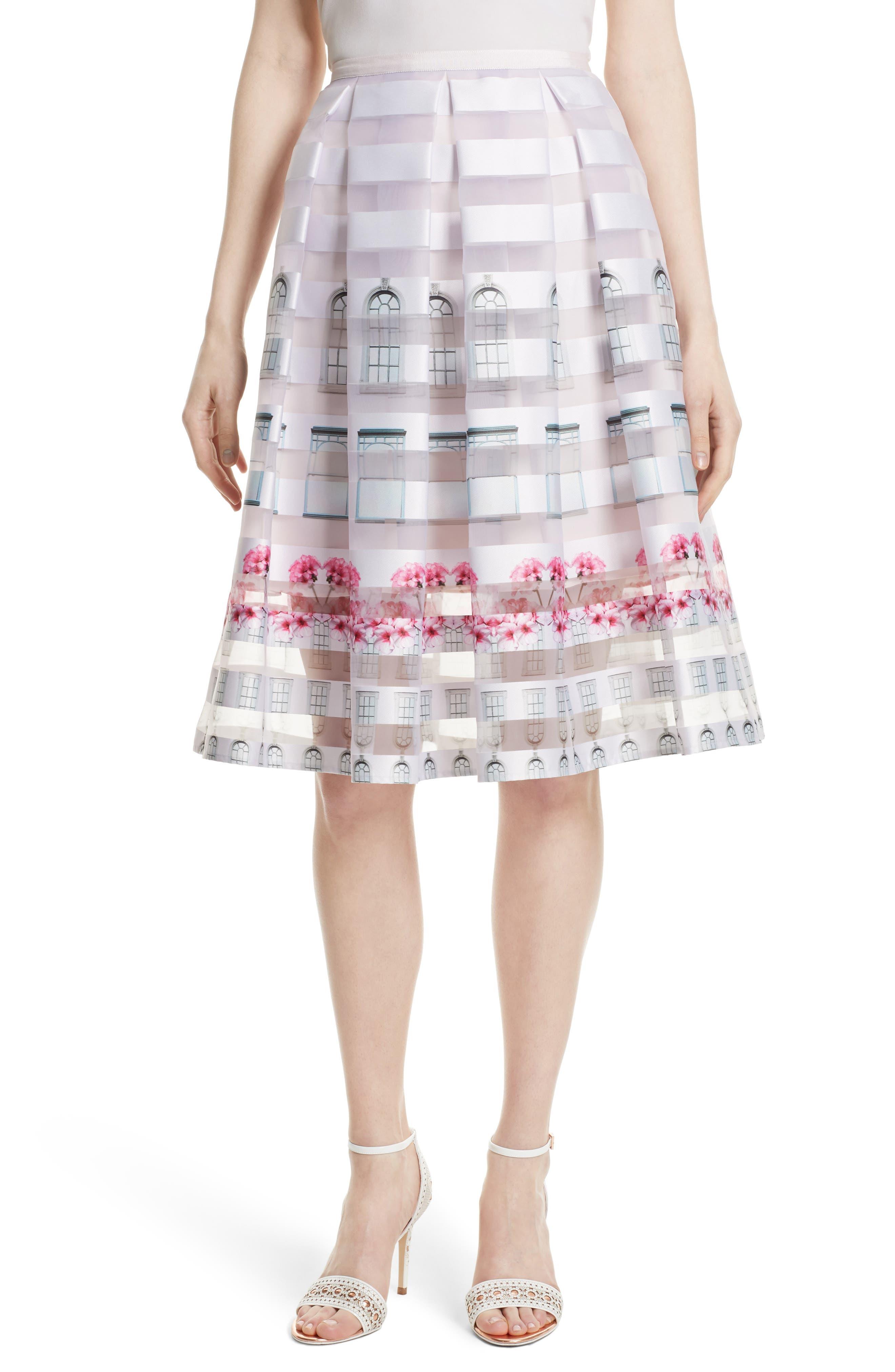 TED BAKER LONDON Niica Midi Skirt, Main, color, 682