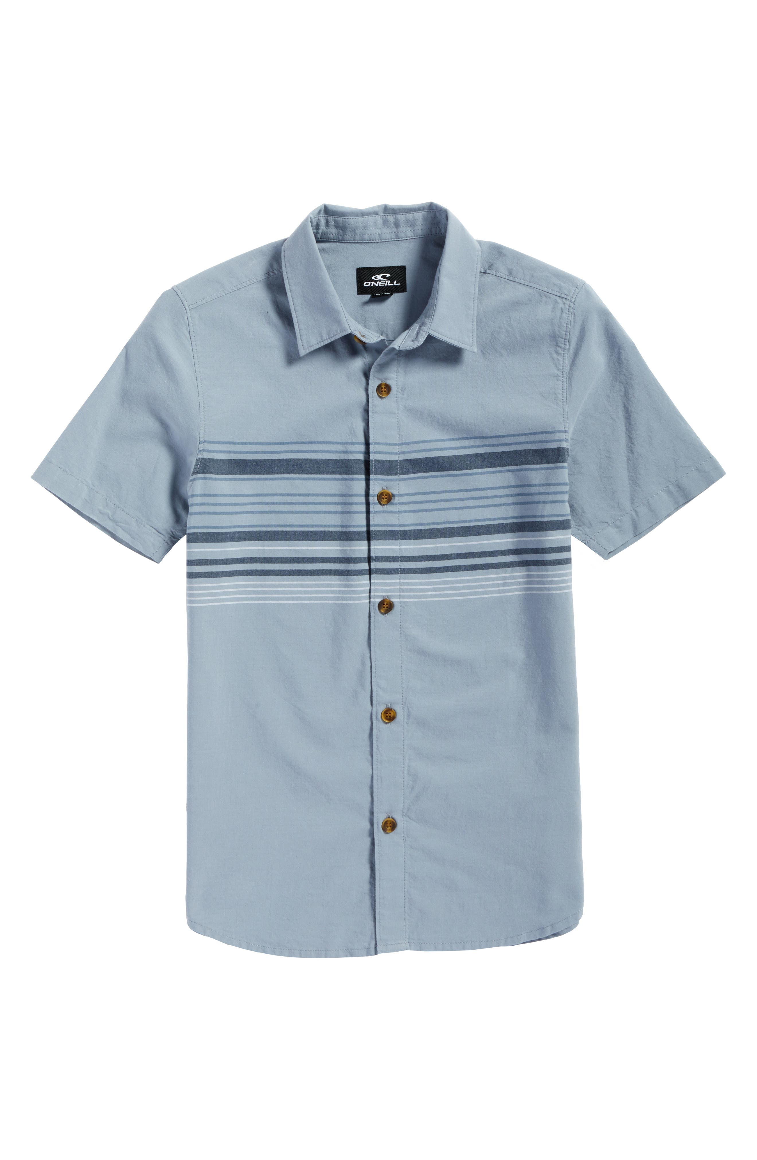 Serf Striped Woven Shirt,                             Alternate thumbnail 4, color,