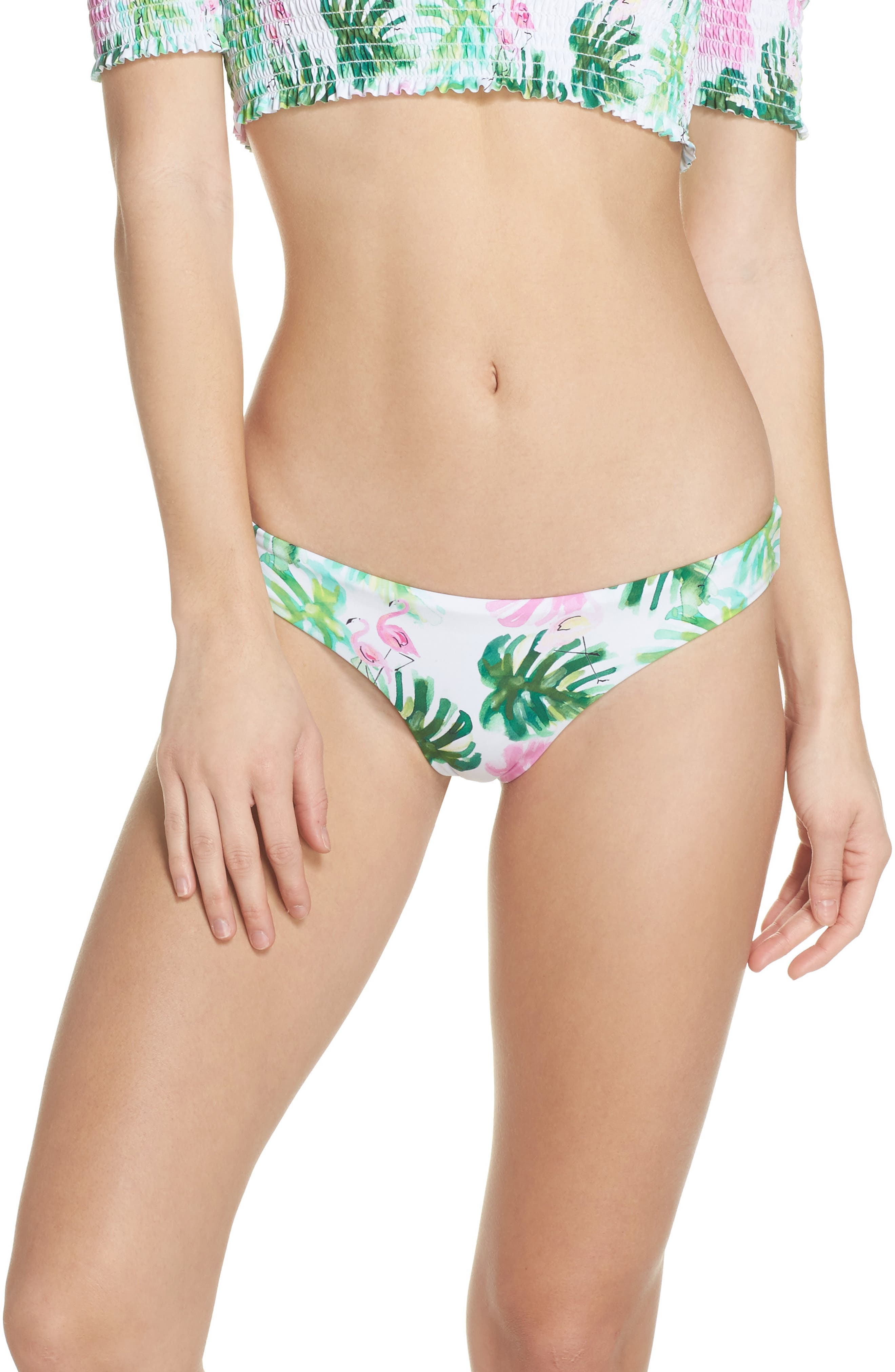 Ruched Bikini Bottoms,                         Main,                         color, 100