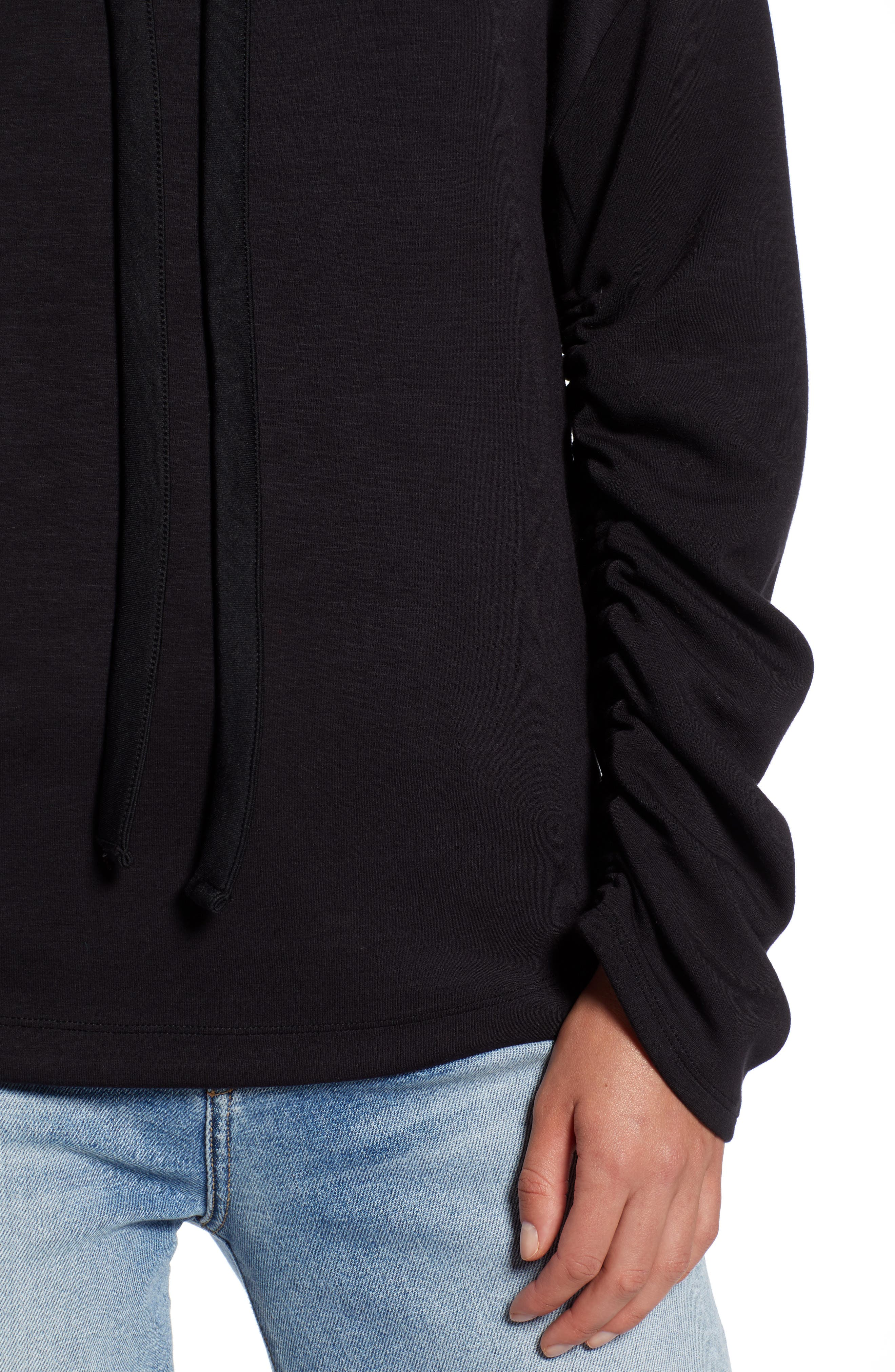Funnel Neck Sweatshirt,                             Alternate thumbnail 4, color,                             001