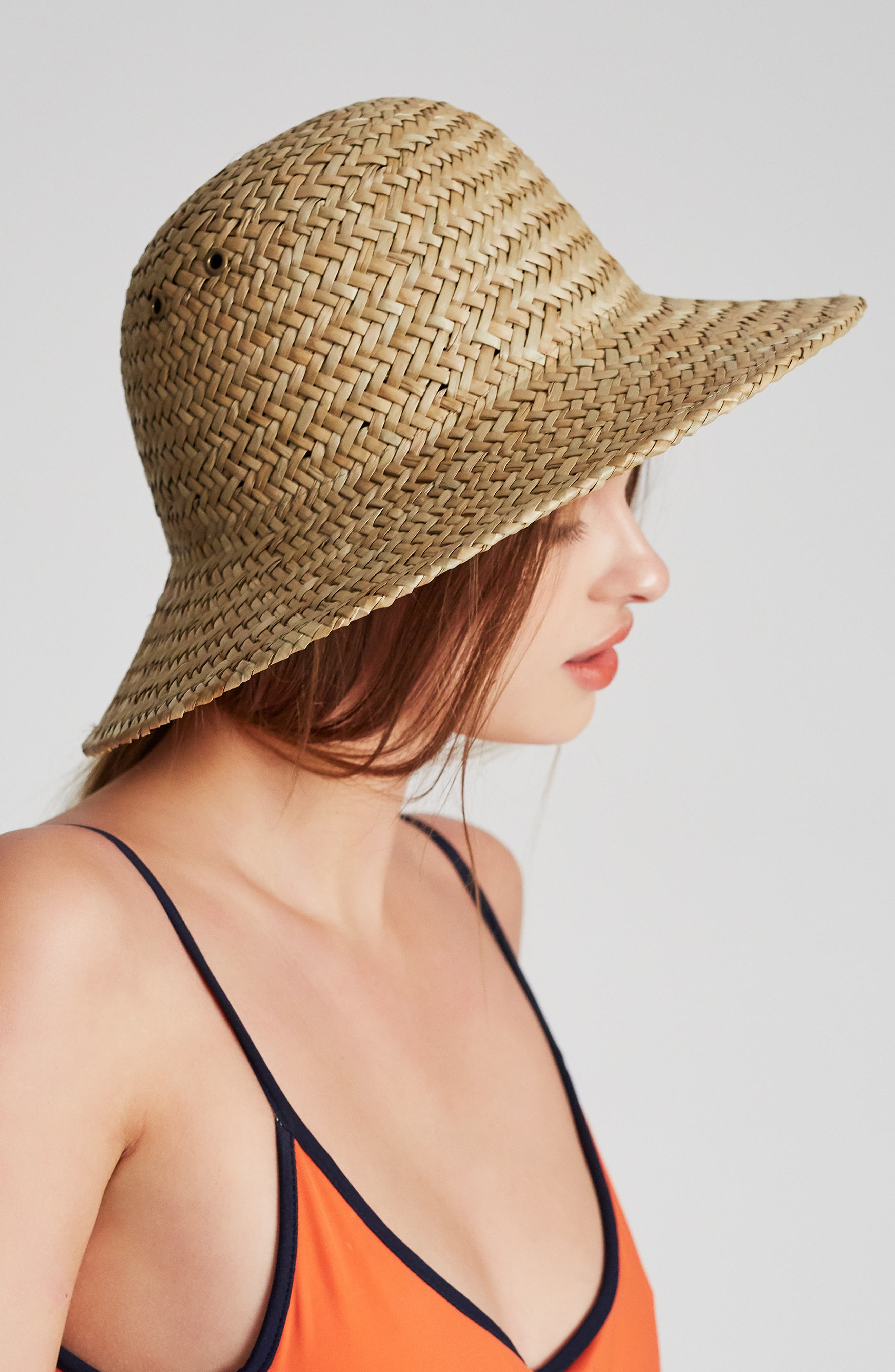Kennedy Straw Hat,                             Alternate thumbnail 3, color,                             DARK TAN
