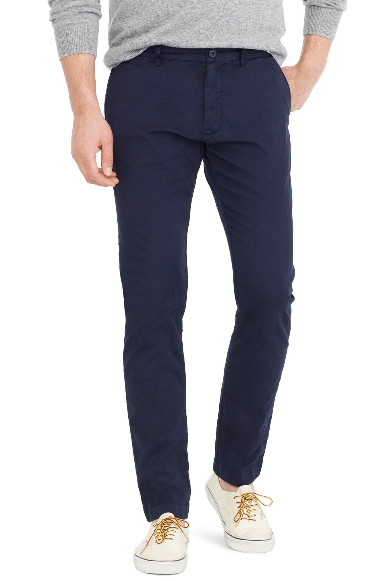 Slim Fit Garment Dyed Stretch Chinos,                             Main thumbnail 4, color,