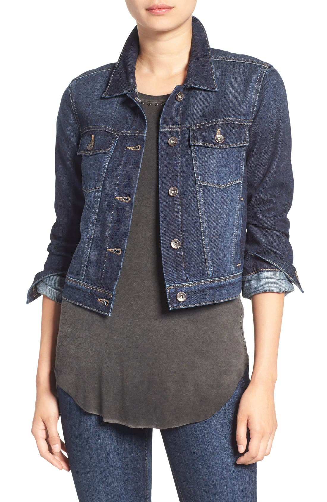 'Vivienne' Denim Jacket,                         Main,                         color, 400