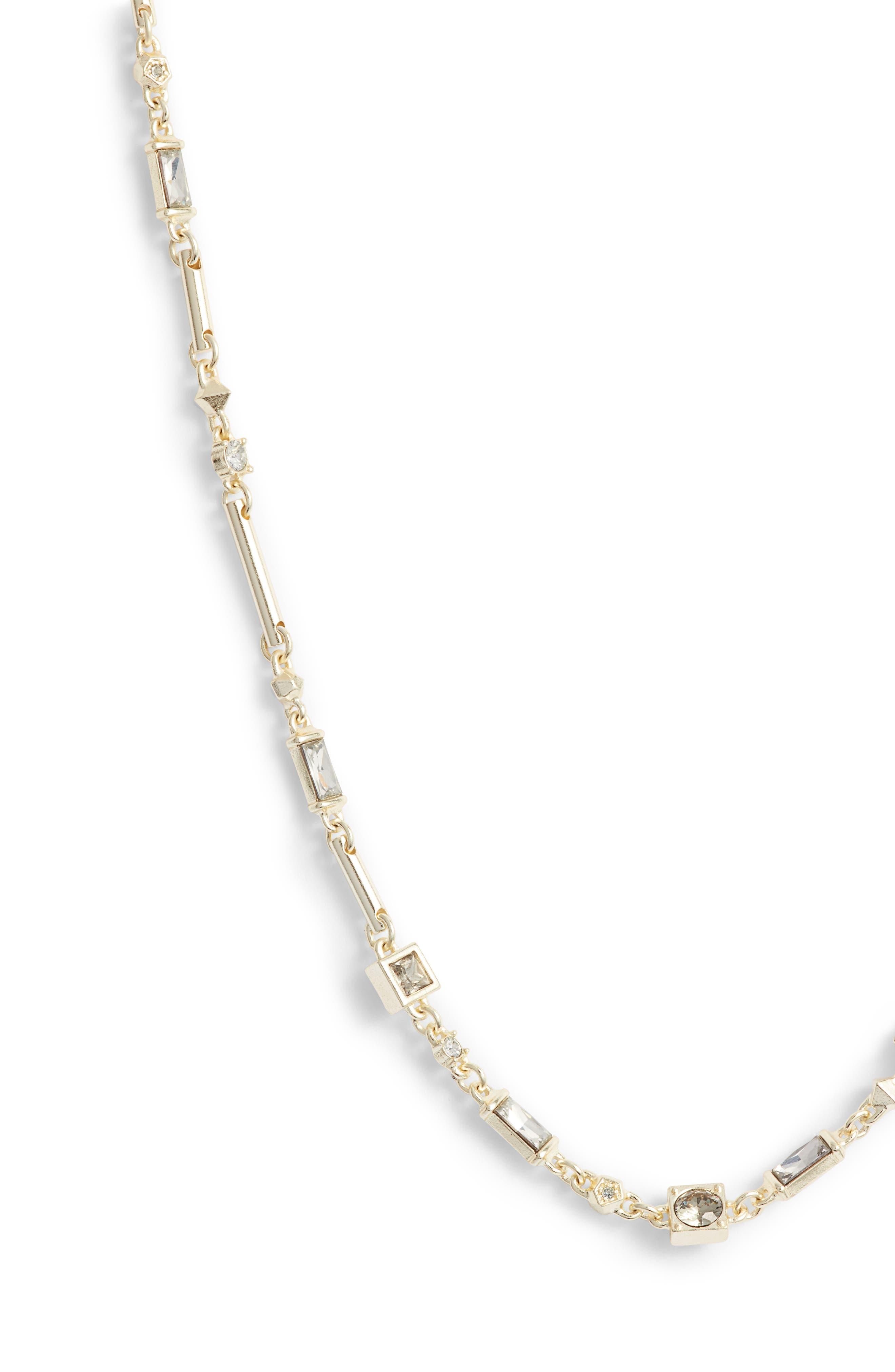 Rhett Collar Necklace,                             Alternate thumbnail 3, color,                             SMOKY MIX/ GOLD