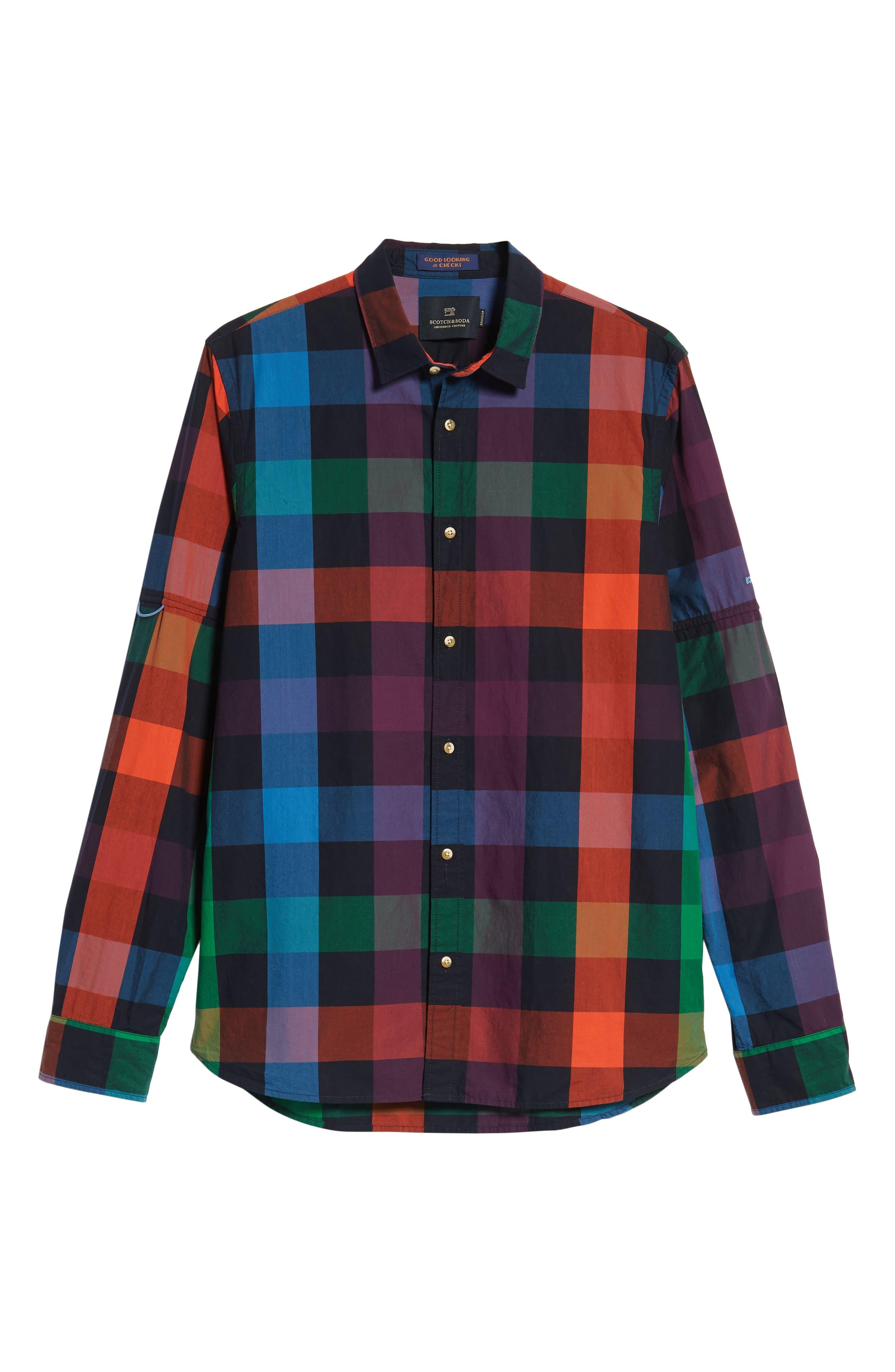 SCOTCH & SODA,                             Check Sport Shirt,                             Alternate thumbnail 6, color,                             300