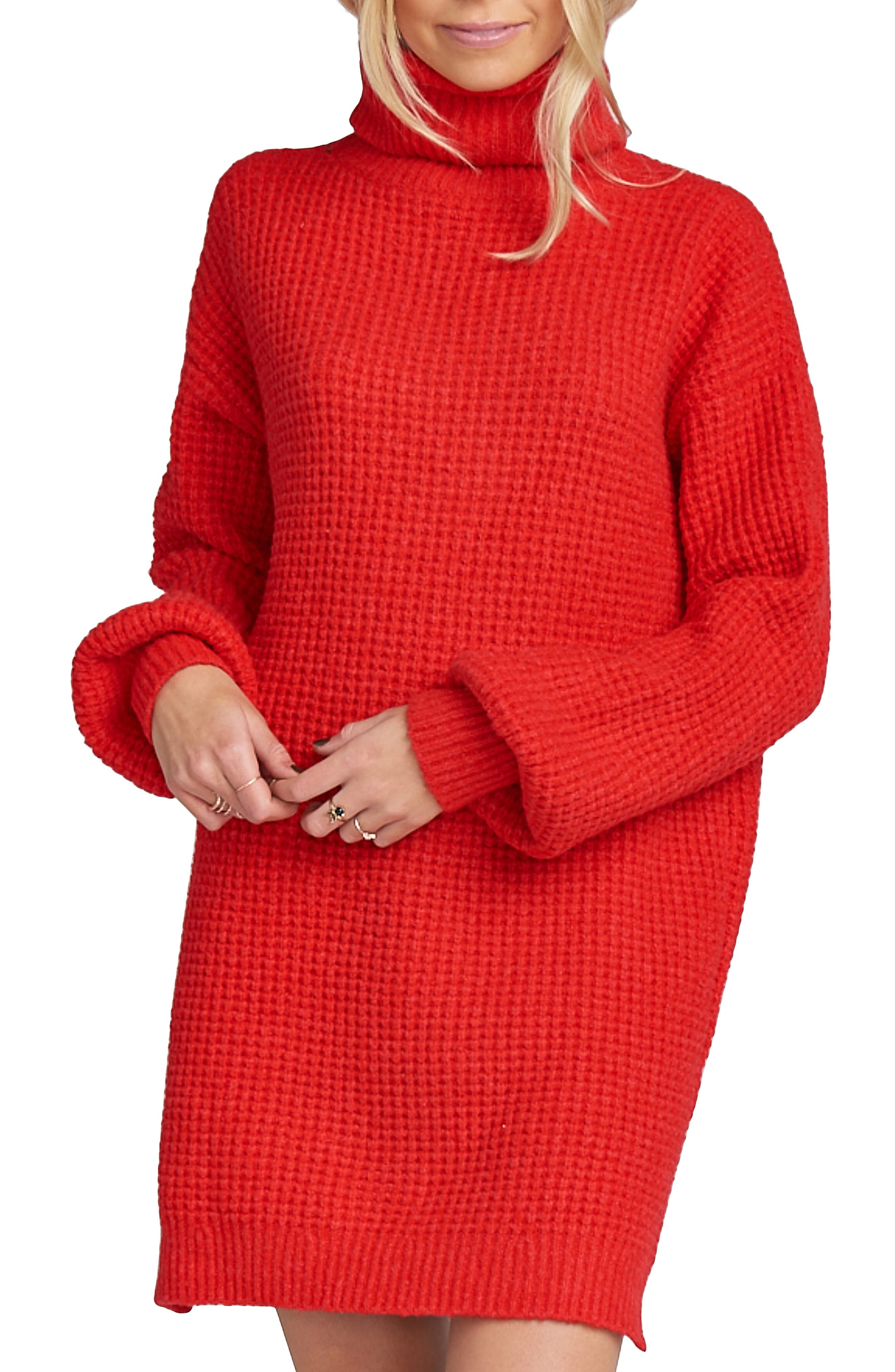 Holly Red Sweater Dress,                             Alternate thumbnail 6, color,                             600