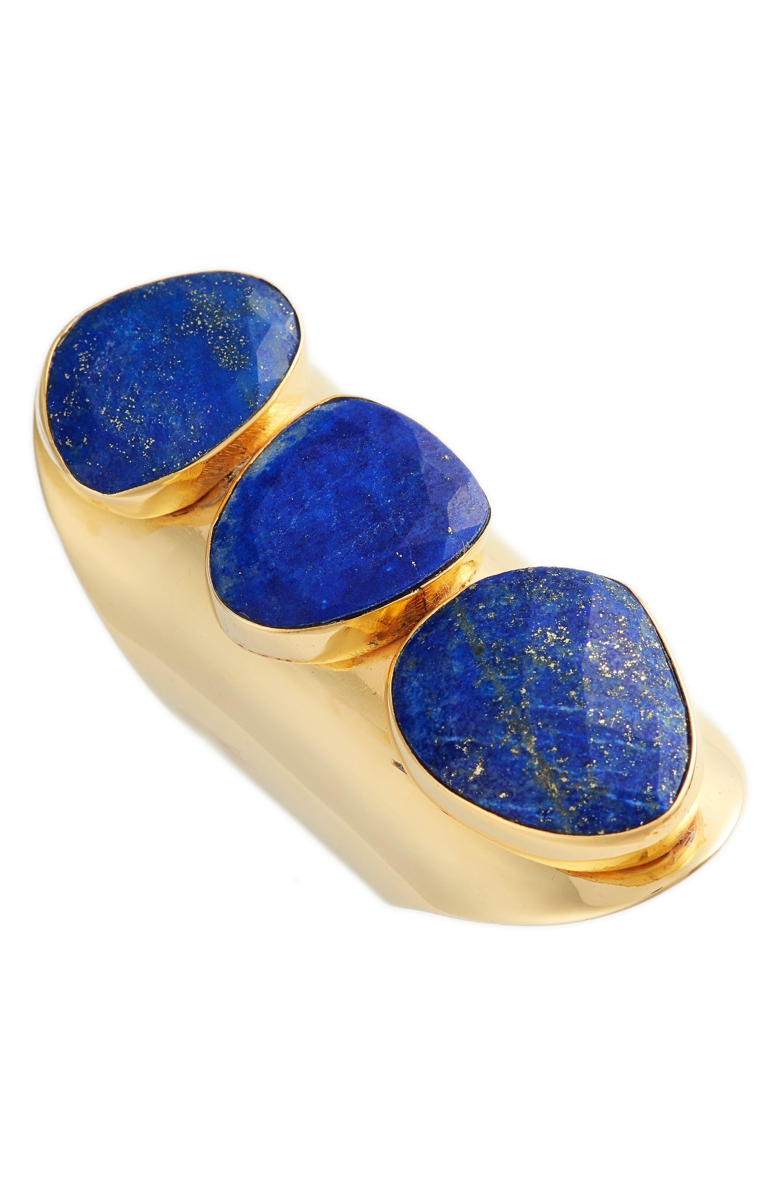 Anas 3 Stone Lapis Ring,                             Main thumbnail 1, color,