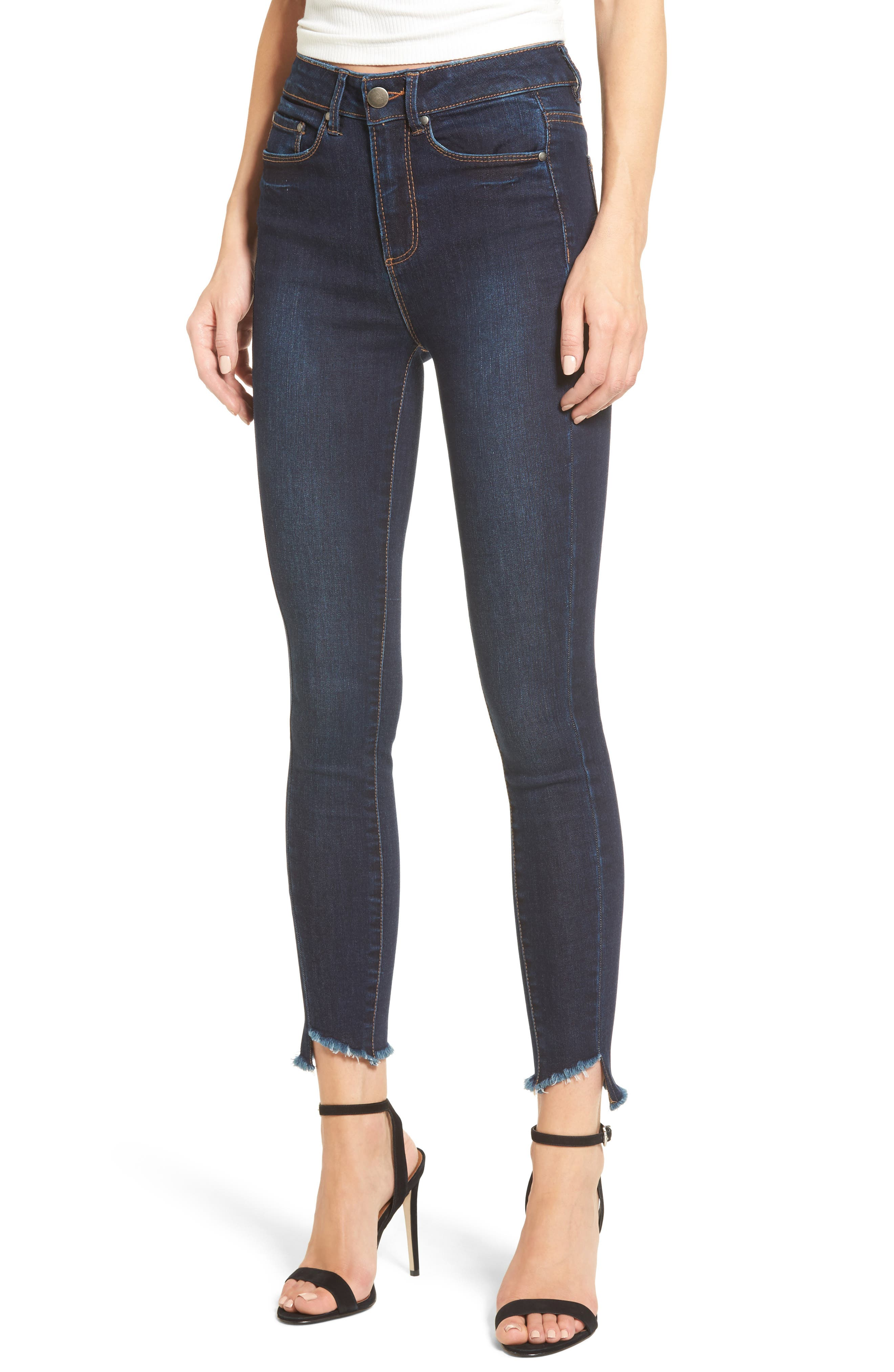 Clark High Waist Skinny Jeans,                             Main thumbnail 1, color,                             REBEL WASH