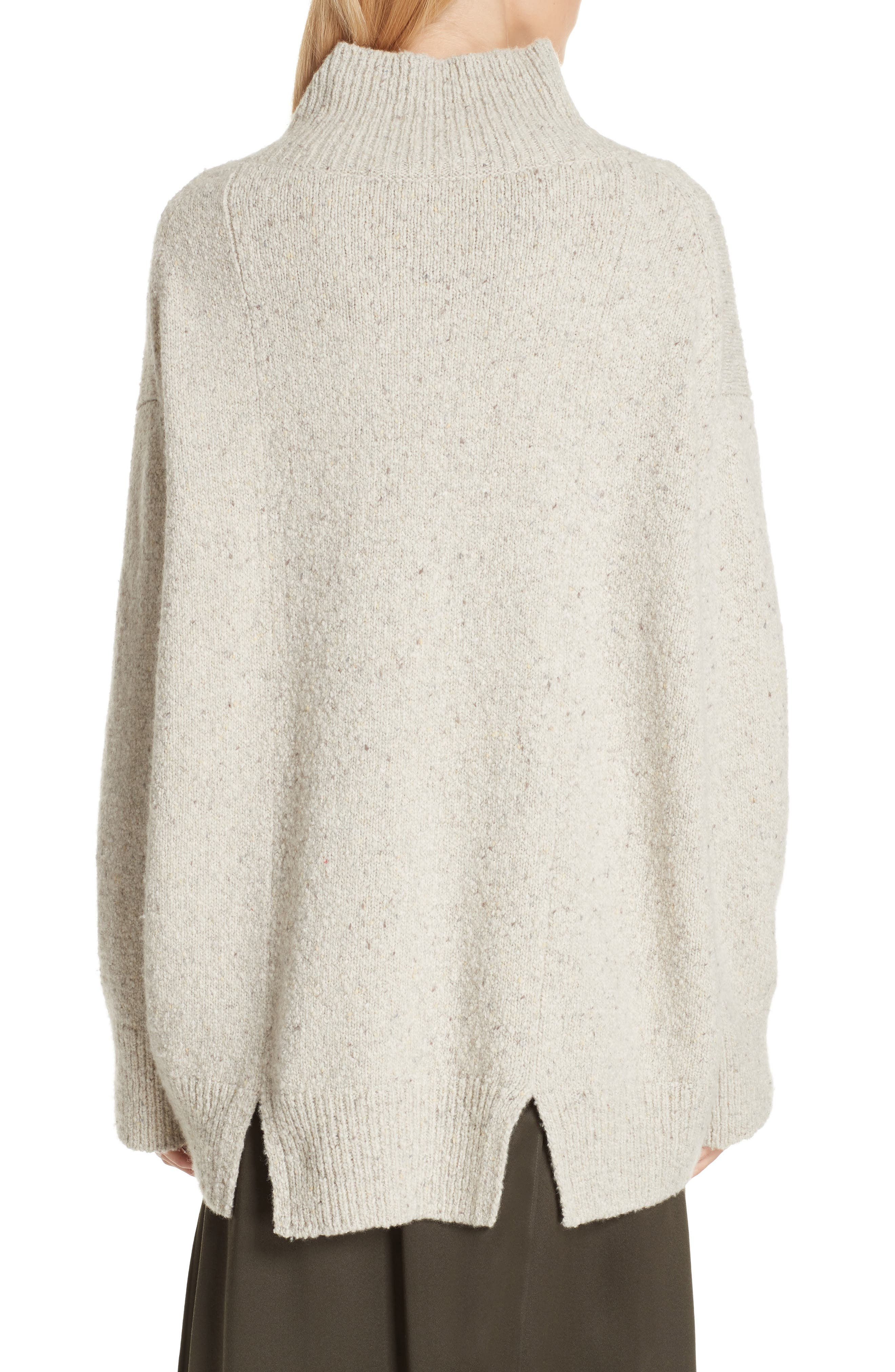 Oversize Cashmere Sweater,                             Alternate thumbnail 2, color,                             BUTTERMILK