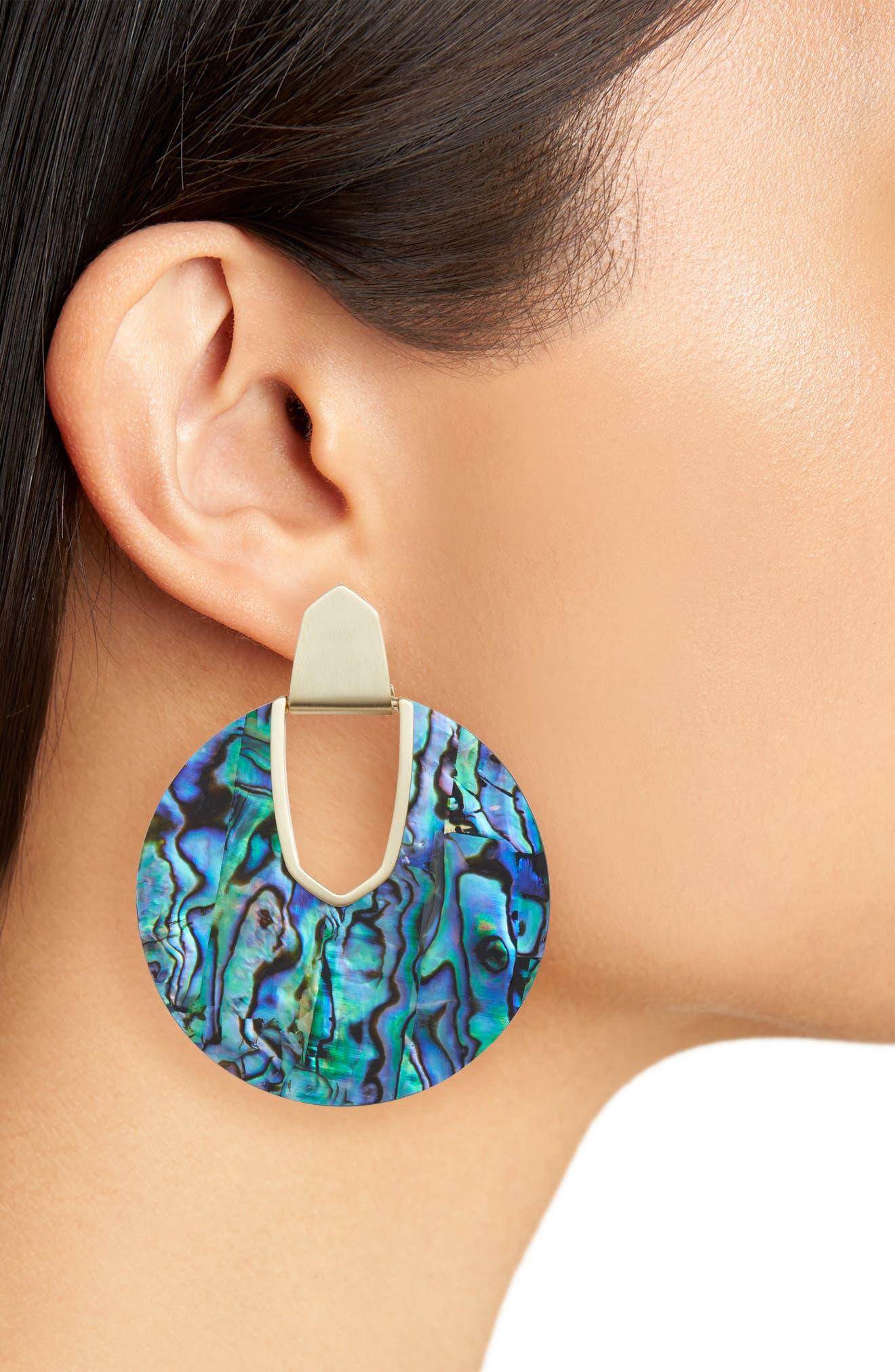 KENDRA SCOTT,                             Diane Drop Earrings,                             Alternate thumbnail 2, color,                             ABALONE SHELL/ GOLD