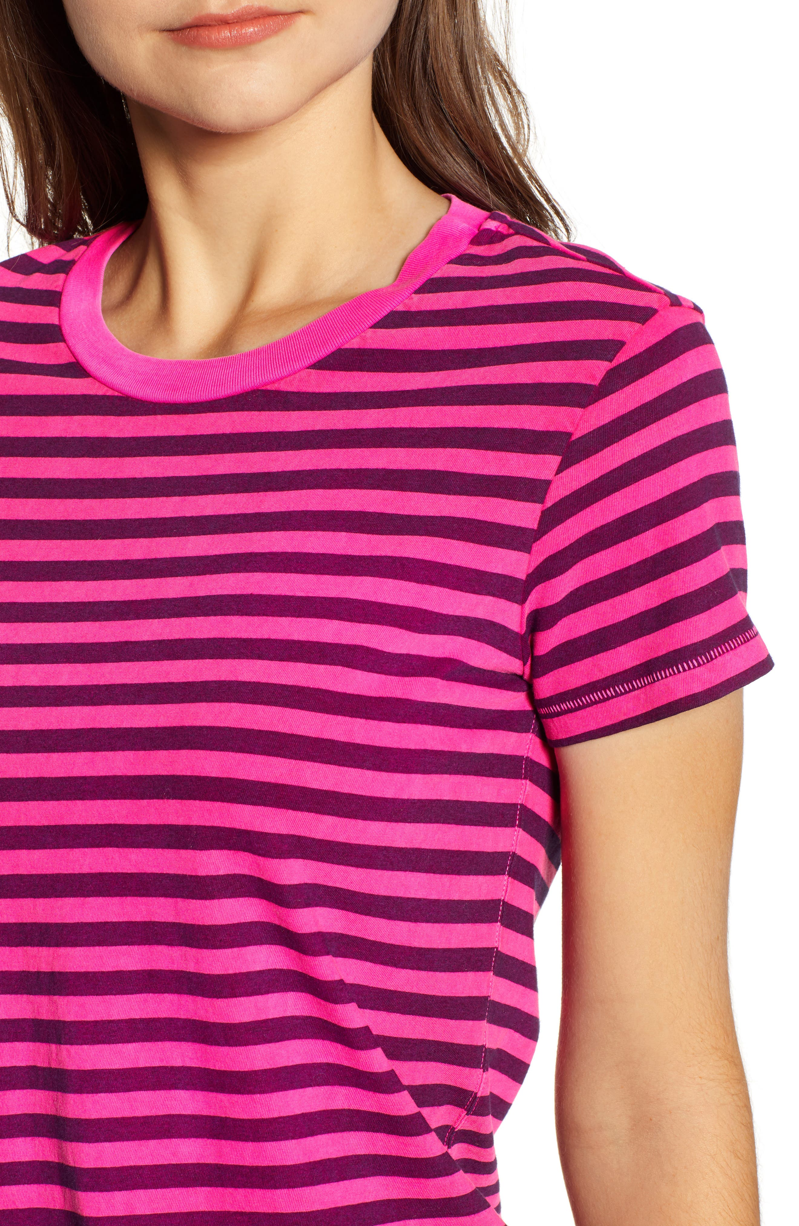 Neon Stripe Baby Tee,                             Alternate thumbnail 4, color,                             650